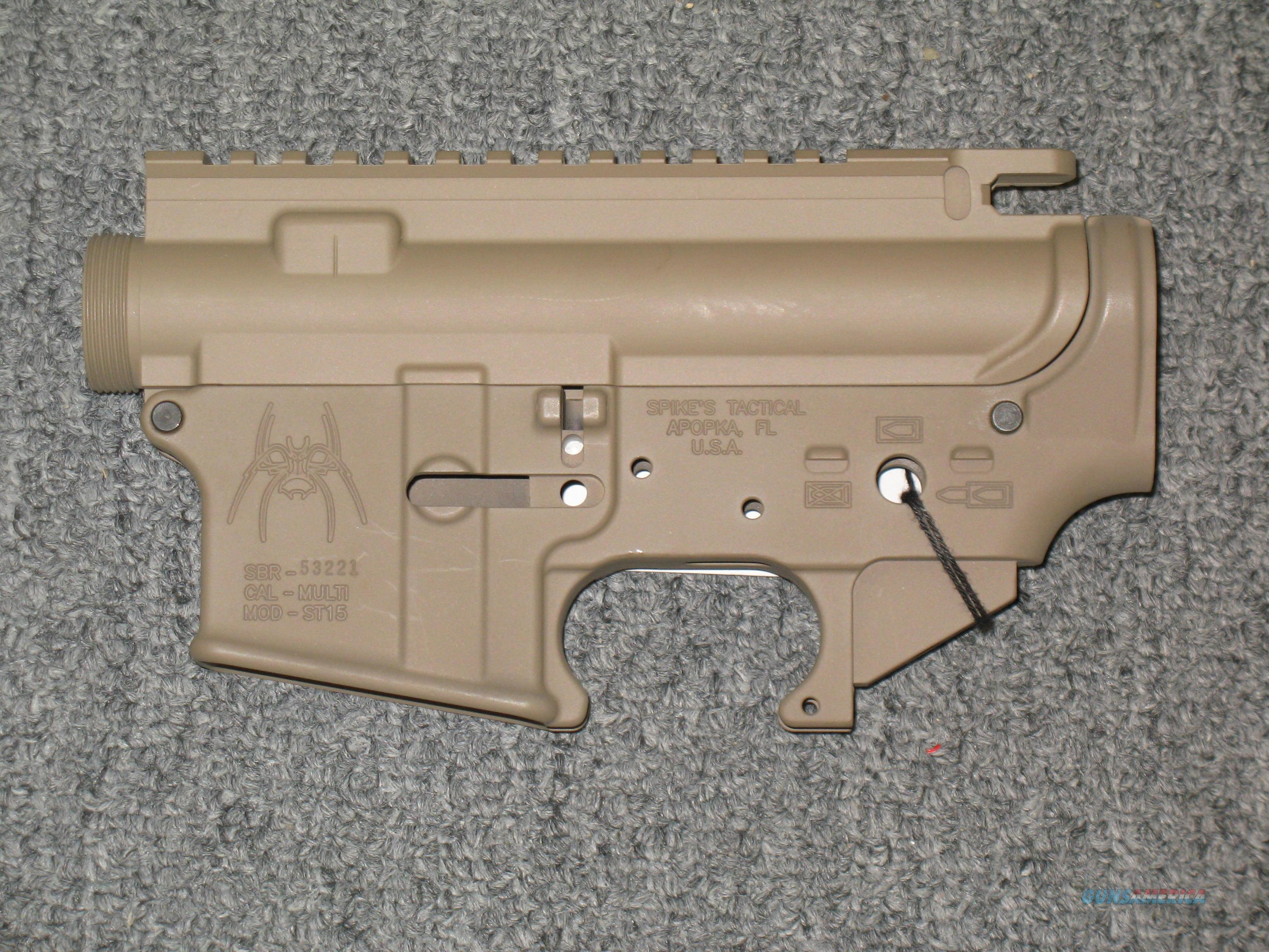 Spikes Tactical ST15 upper & lower FDE Finish  Guns > Rifles > AR-15 Rifles - Small Manufacturers > Lower Only