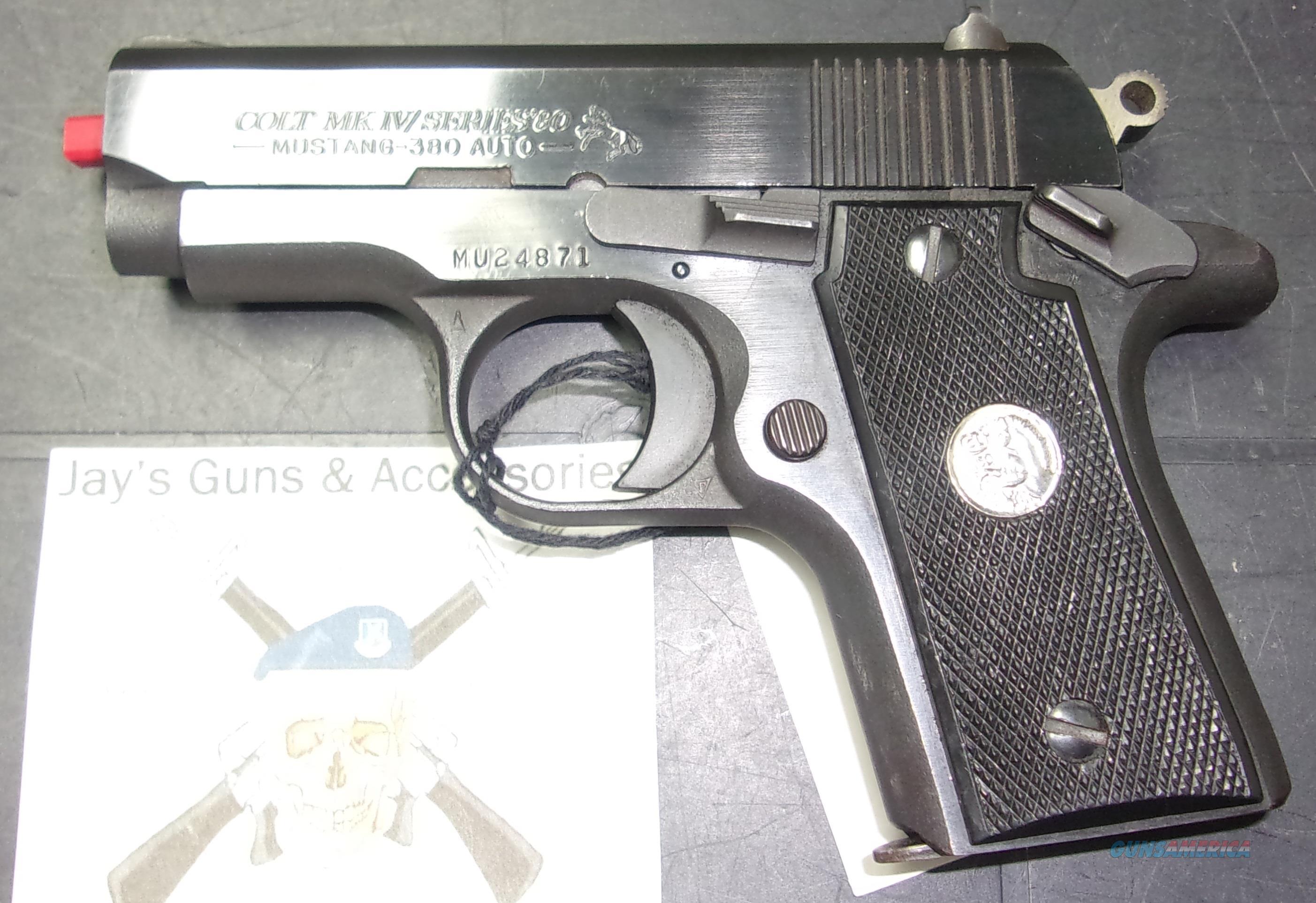 Colt MK IV Series 80 Mustang  Guns > Pistols > Colt Automatic Pistols (.25, .32, & .380 cal)
