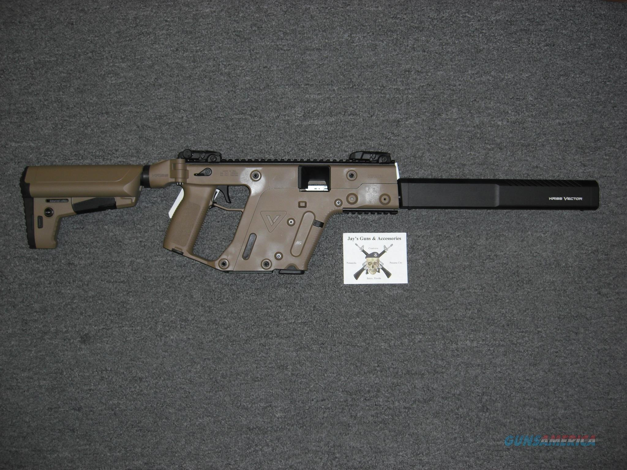 Kriss Vector CRB Gen 2 w/FDE Finish Uses Glock 17 Mags & Fake Silencer  Guns > Rifles > Kriss Tactical Rifles