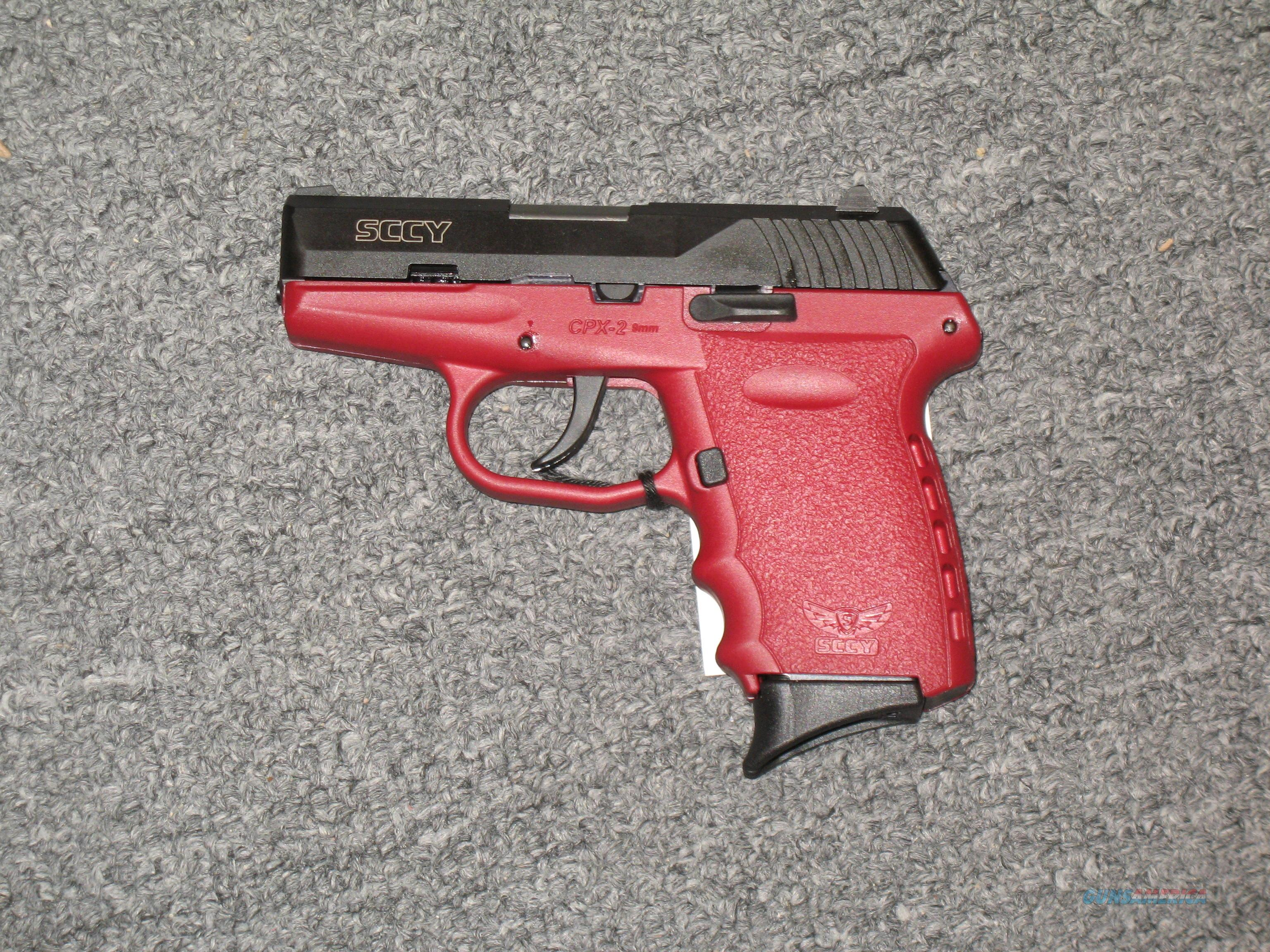 SCCY CPX-2 no safety black/red crimson  Guns > Pistols > S Misc Pistols