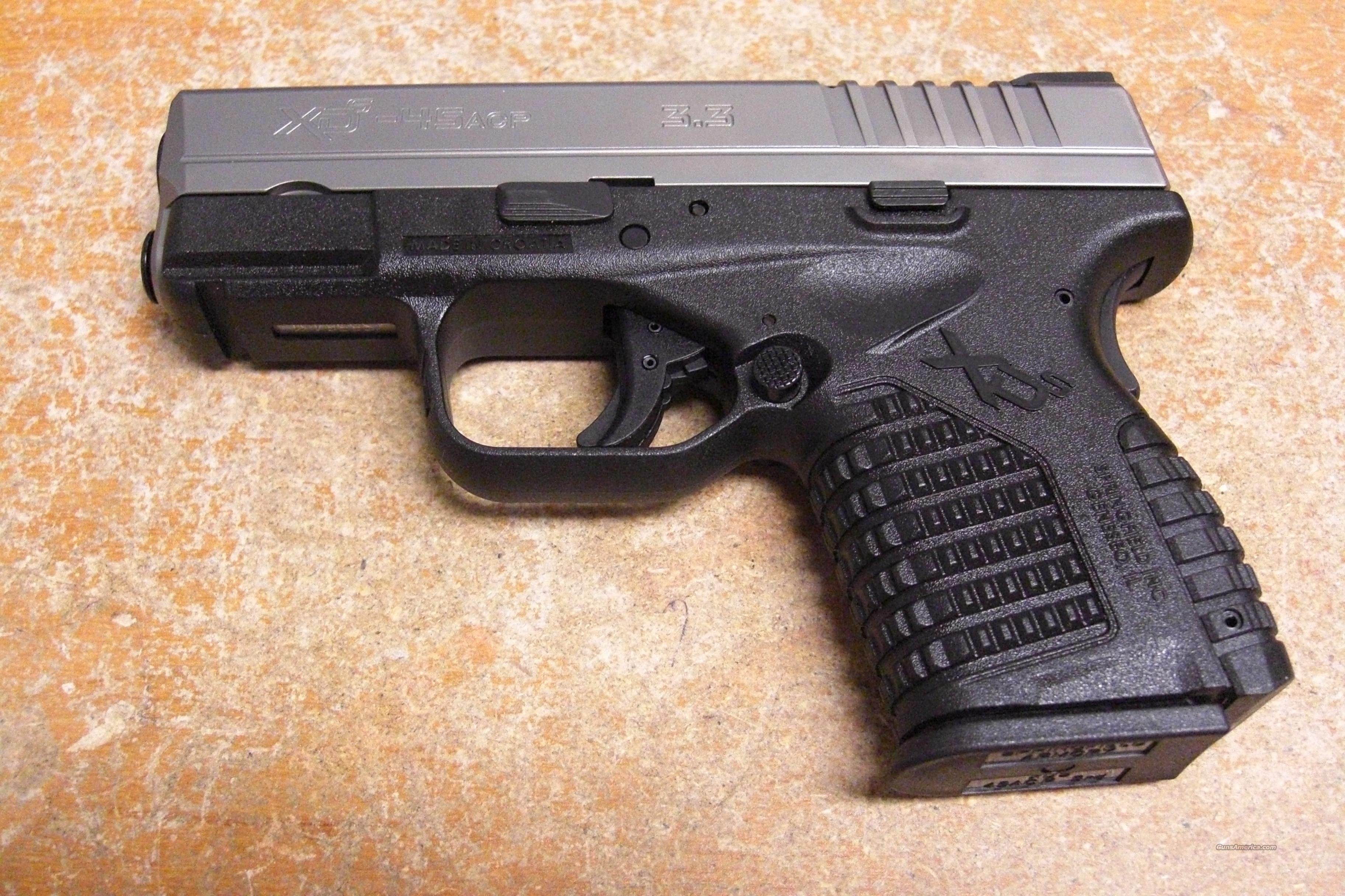 "XDS-45 w/stainless slide, 3.3"" bbl.  Guns > Pistols > Springfield Armory Pistols > XD (eXtreme Duty)"