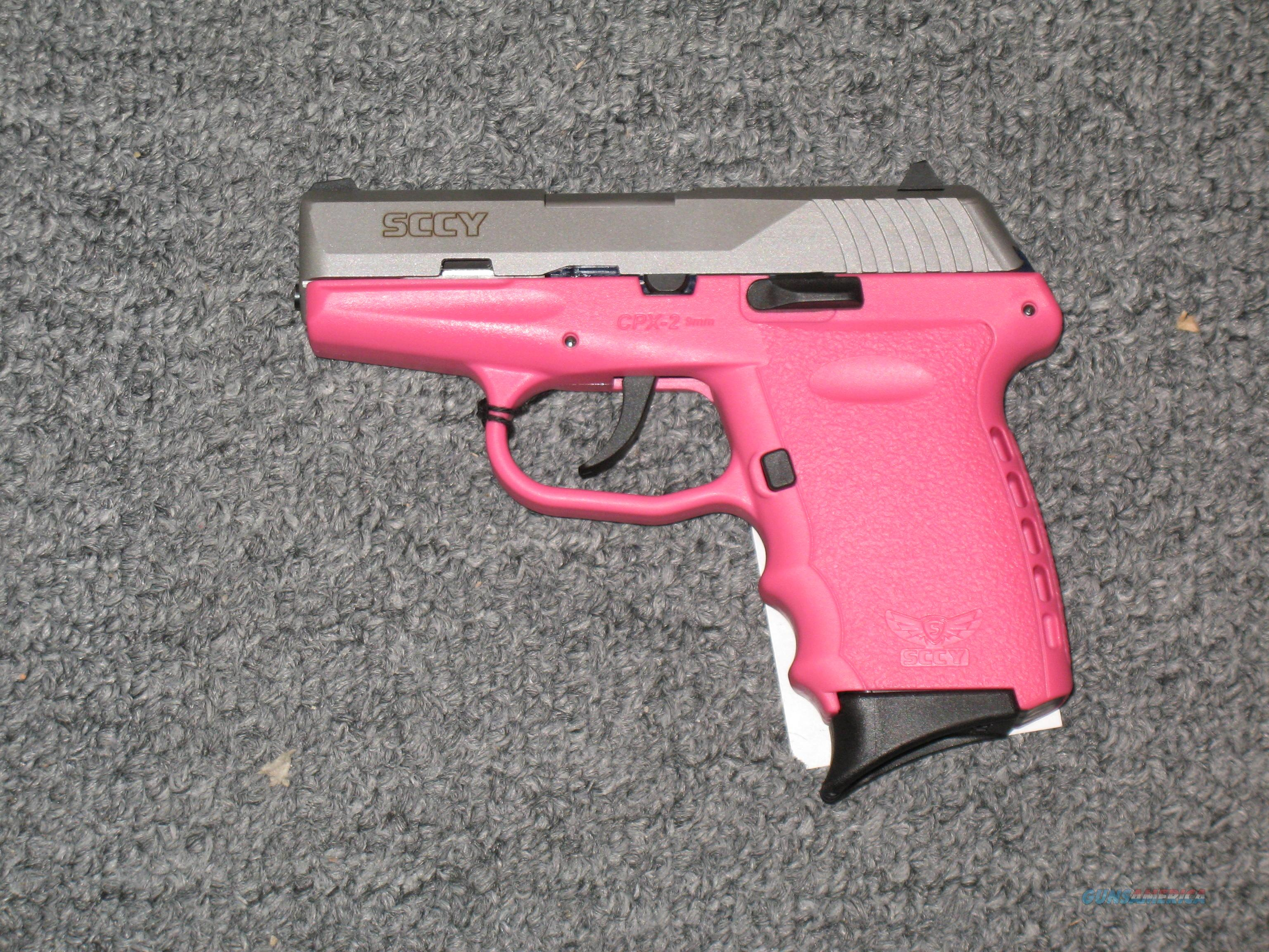 SCCY CPX-1  w/2 tone stainless and pink finish (no safety)  Guns > Pistols > S Misc Pistols