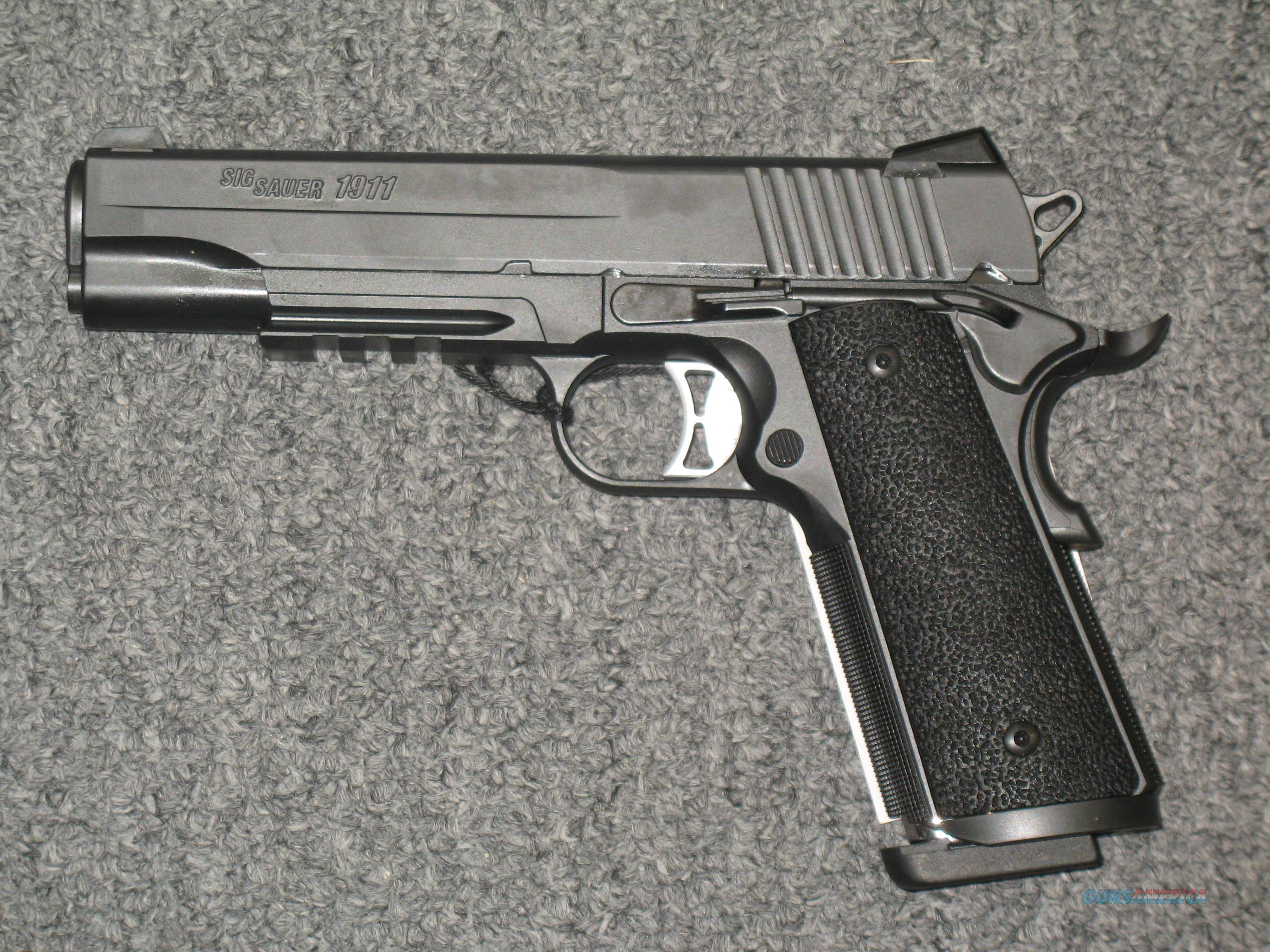1911 TACOPS  w/4 mags. (1911-10-TACOPS) .10mm Night Sights  Guns > Pistols > Sig - Sauer/Sigarms Pistols > 1911