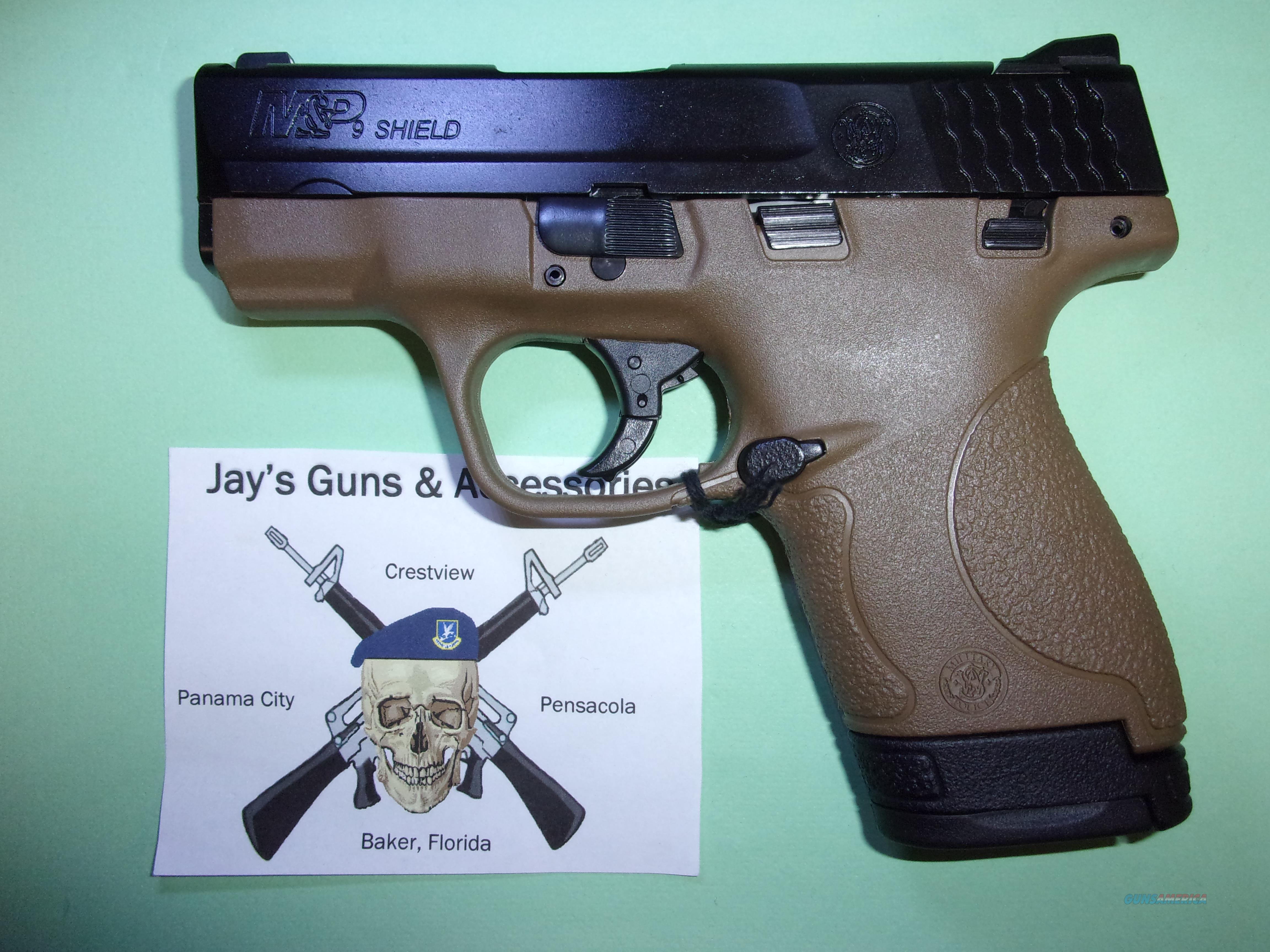 Smith & Wesson M&P9 Shield (10303) w/FDE Frame  Guns > Pistols > Smith & Wesson Pistols - Autos > Shield