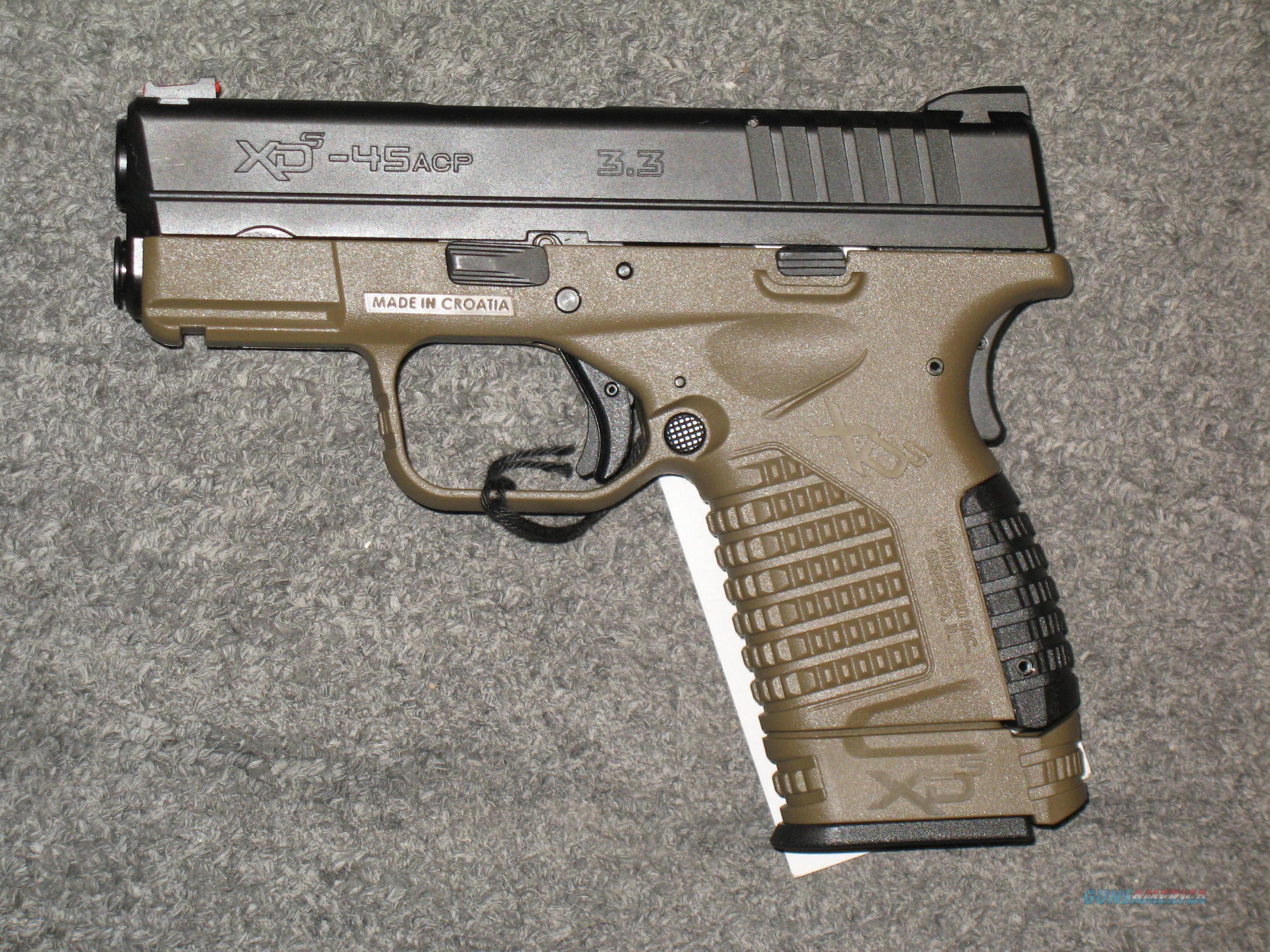 "Springfield Armory XDS-45 3.3"" w/FDE Frame  Guns > Pistols > Springfield Armory Pistols > XD-S"
