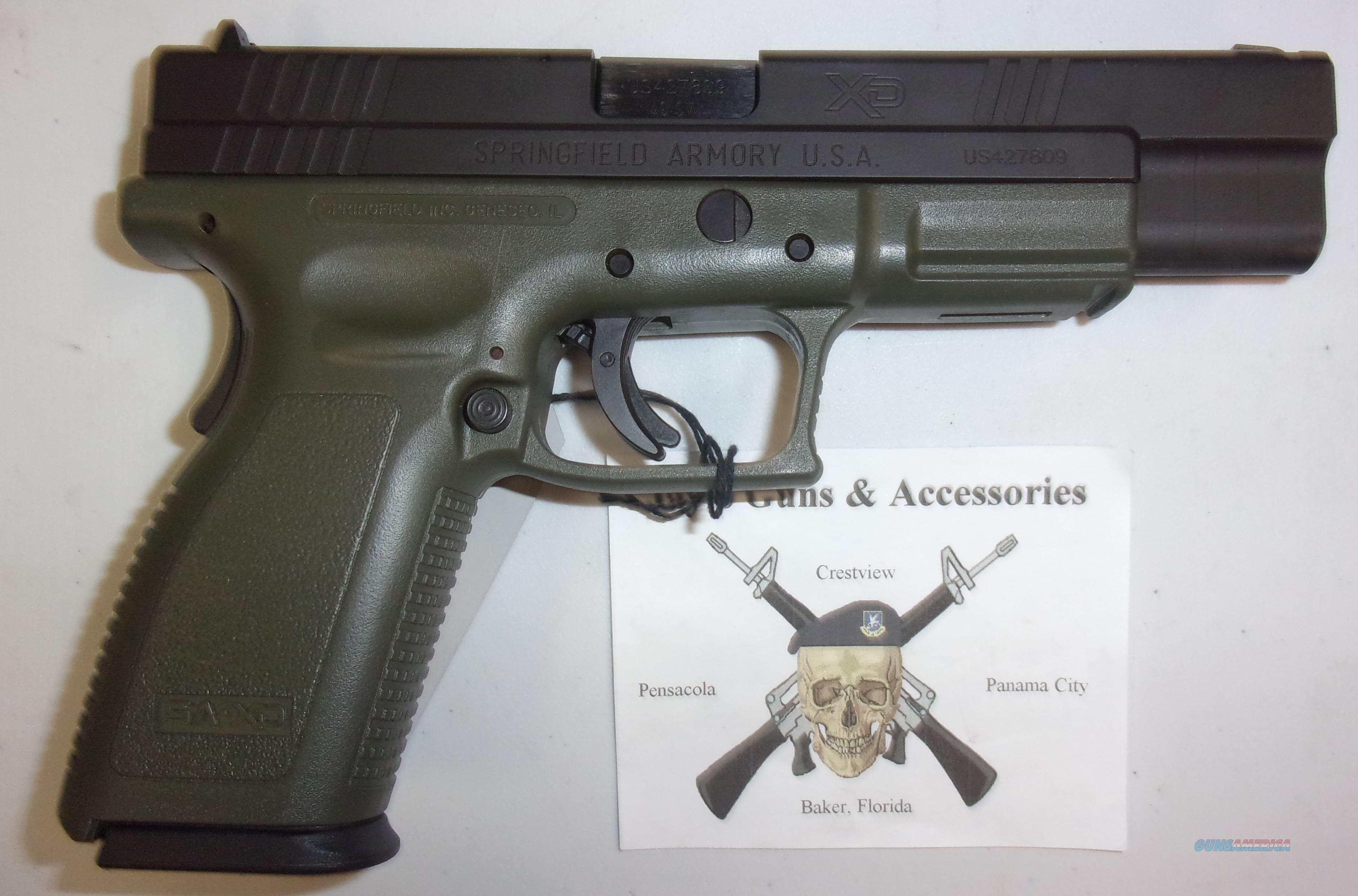 Springfield Armory XD-40 Tactical w/OD Green Frame  Guns > Pistols > Springfield Armory Pistols > XD (eXtreme Duty)