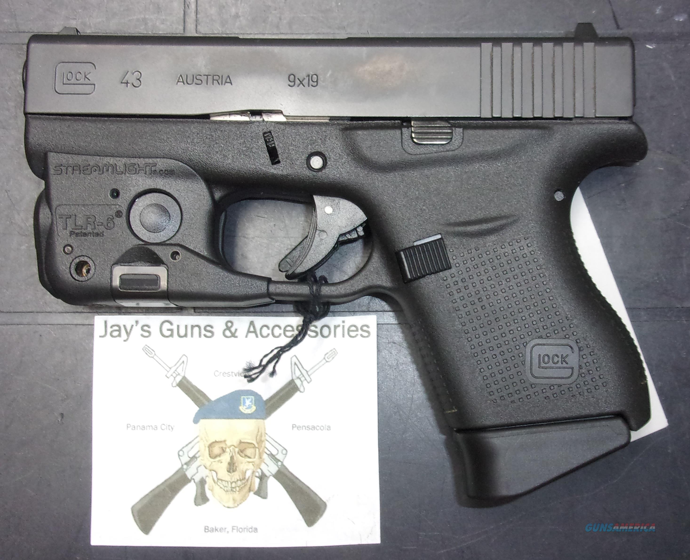 Glock 43 w/Streamlight TLR-6  Guns > Pistols > Glock Pistols > 43/43X