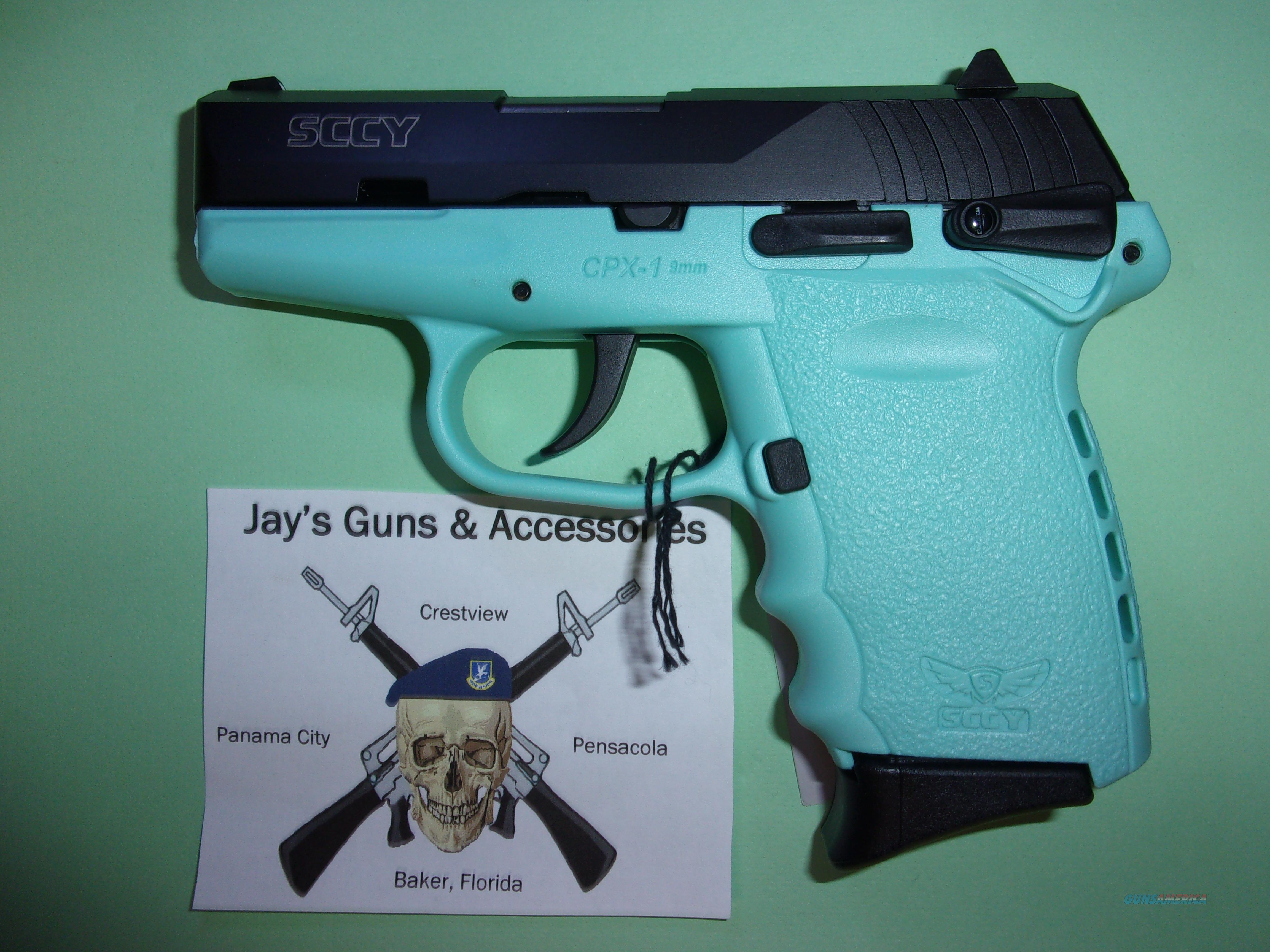 SCCY CPX-1 w/Aqua Frame  Guns > Pistols > SCCY Pistols > CPX1