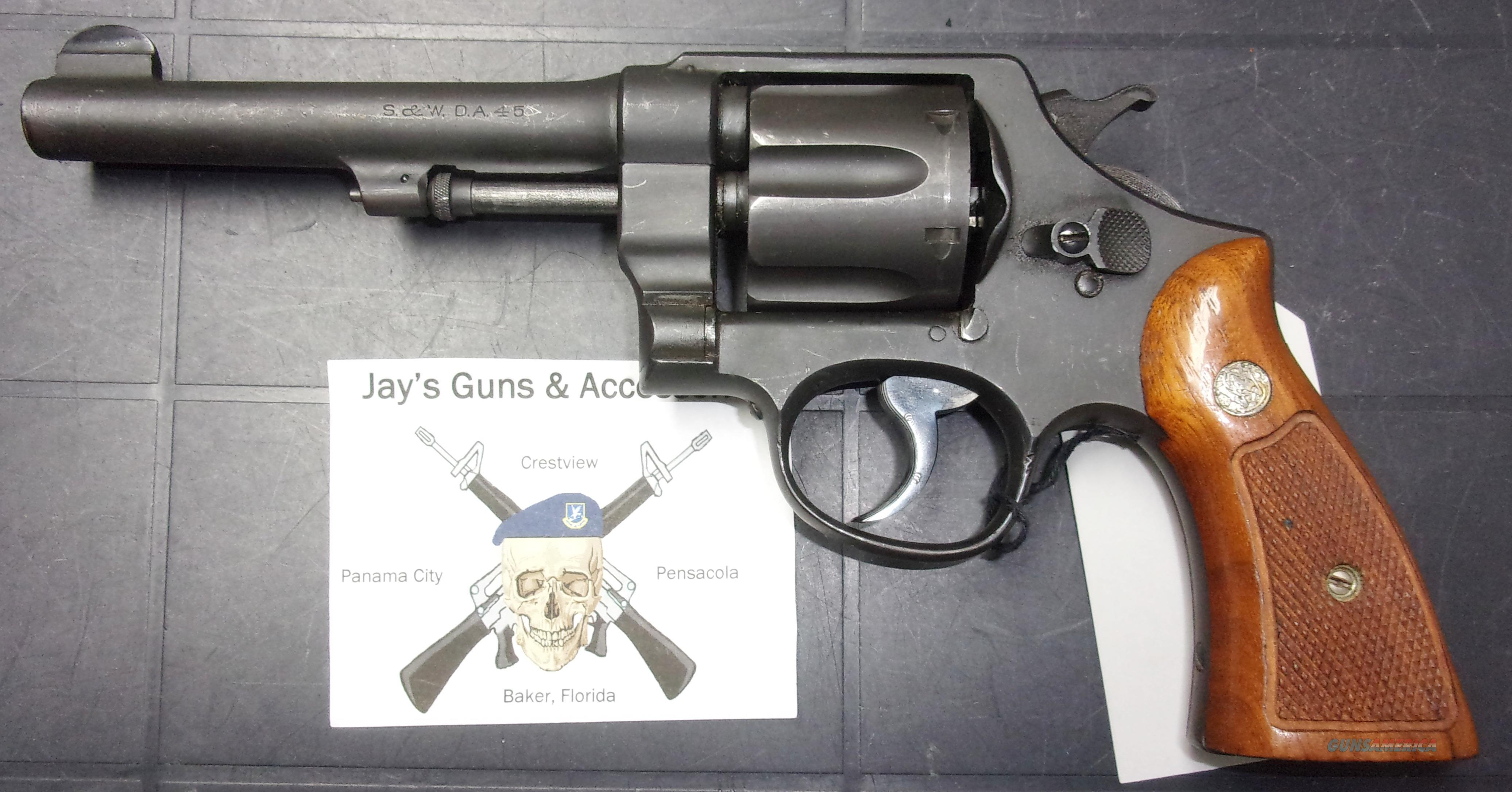 Smith & Wesson D.A. 45 US Army Model 1917  Guns > Pistols > Smith & Wesson Revolvers > Pre-1945