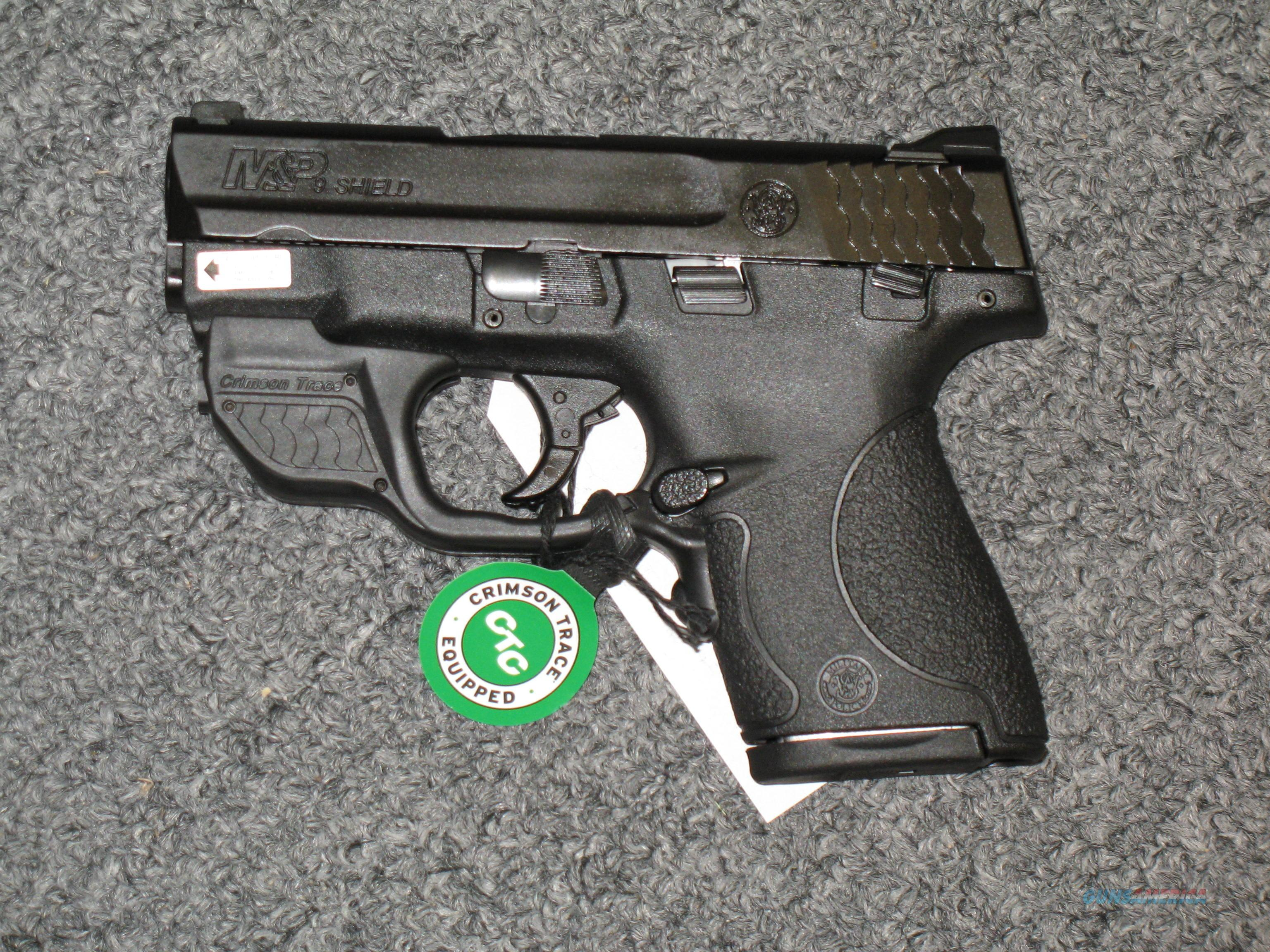 Smith & Wesson M&P 9 Shield with Crimson Trace Green Laser  Guns > Pistols > Smith & Wesson Pistols - Autos > Polymer Frame