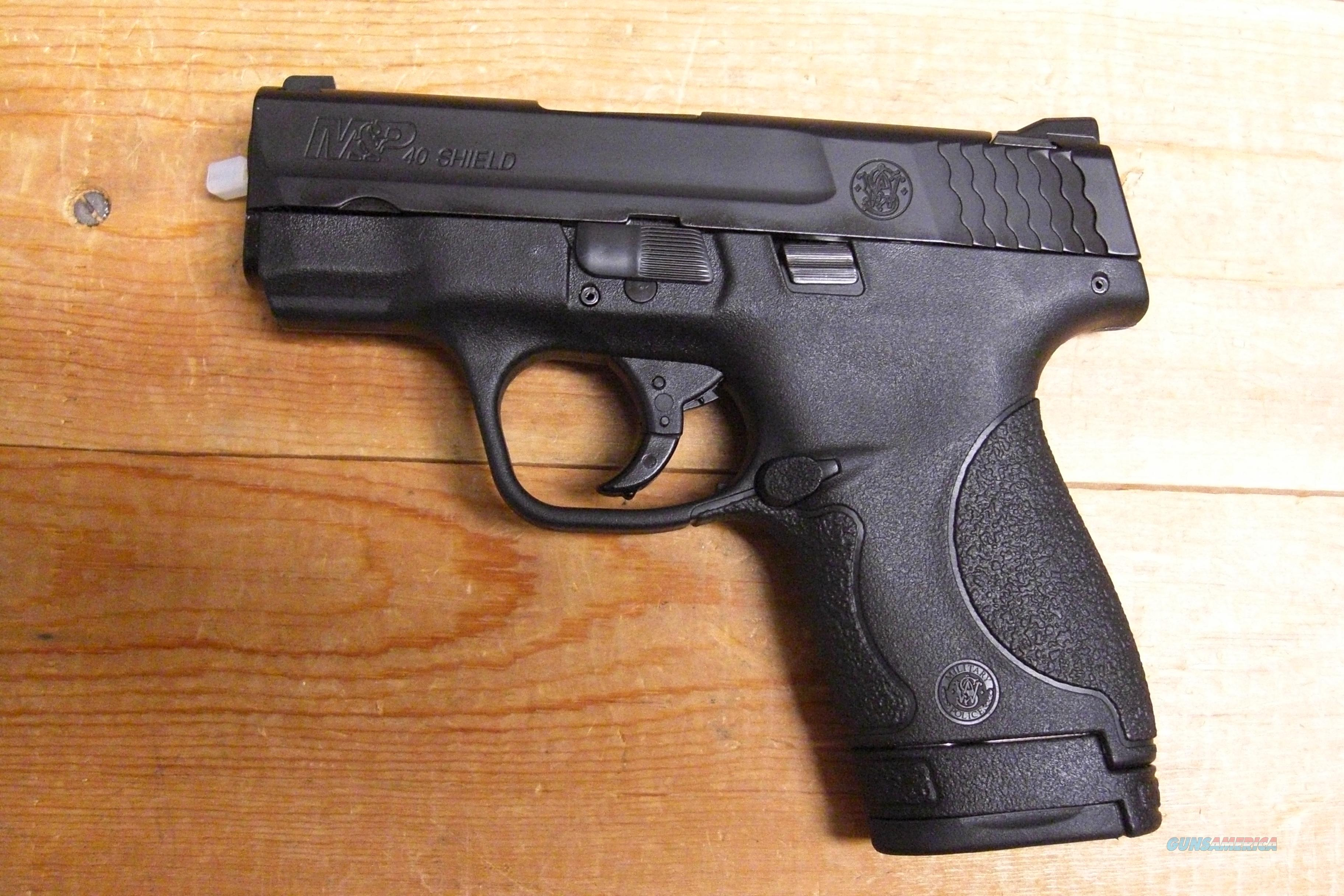 M & P 40 Shield  w/no external safety  Guns > Pistols > Smith & Wesson Pistols - Autos > Polymer Frame