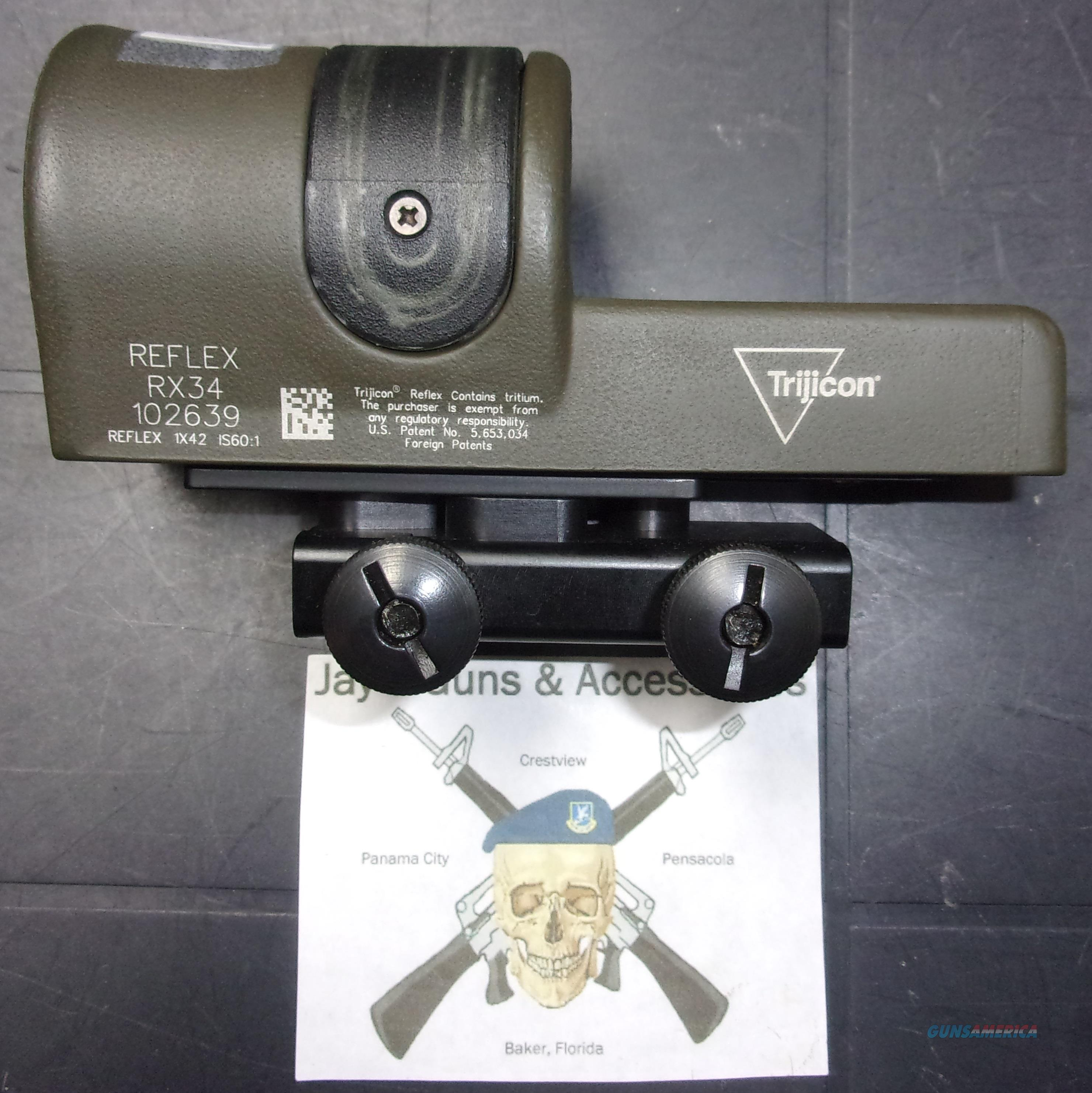 Trijicon Reflex RX34 1x24  Non-Guns > Scopes/Mounts/Rings & Optics > Tactical Scopes > Red Dot