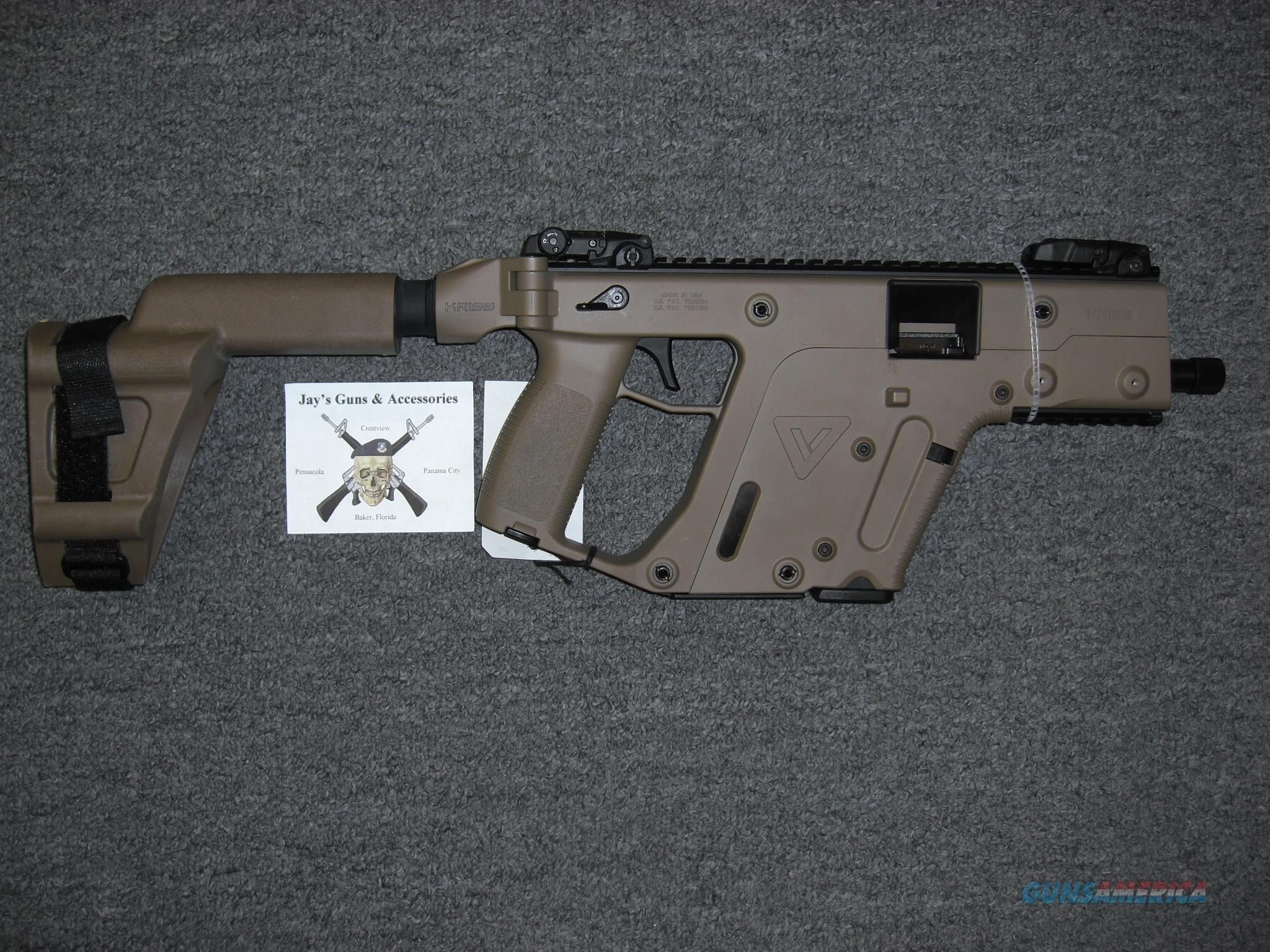 Kriss Vector SDP w/FDE Finish Uses Glock 20 Mags w/Arm Brace  Guns > Pistols > Kriss Tactical Pistols