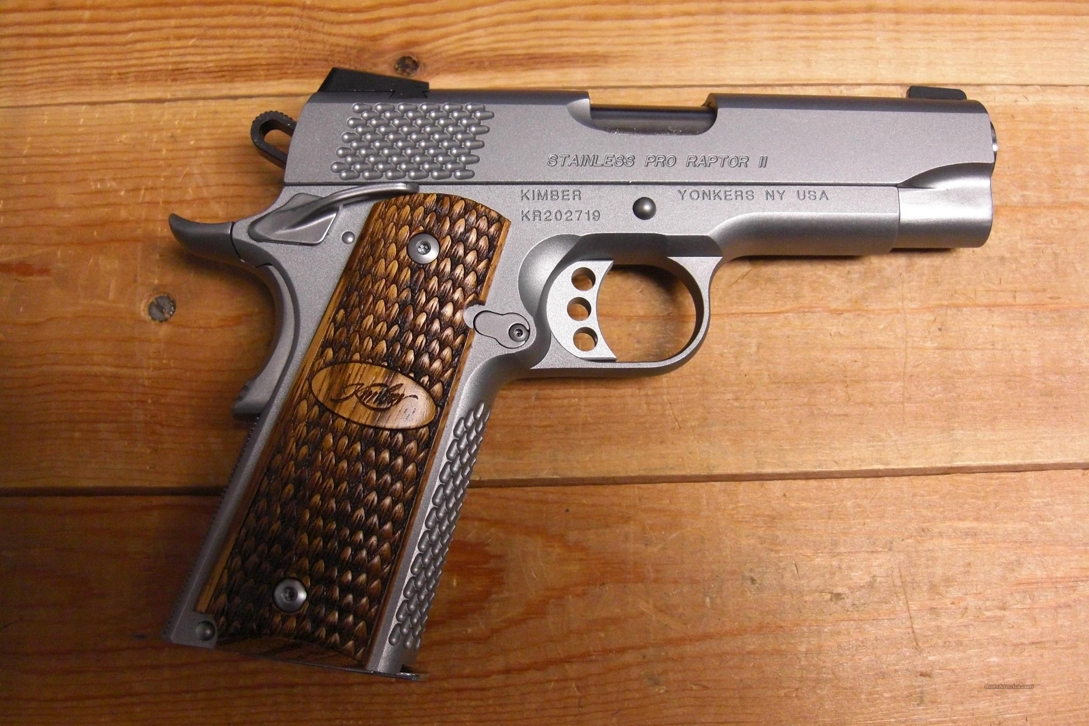 Stainless Pro Raptor II w/night sights  Guns > Pistols > Kimber of America Pistols