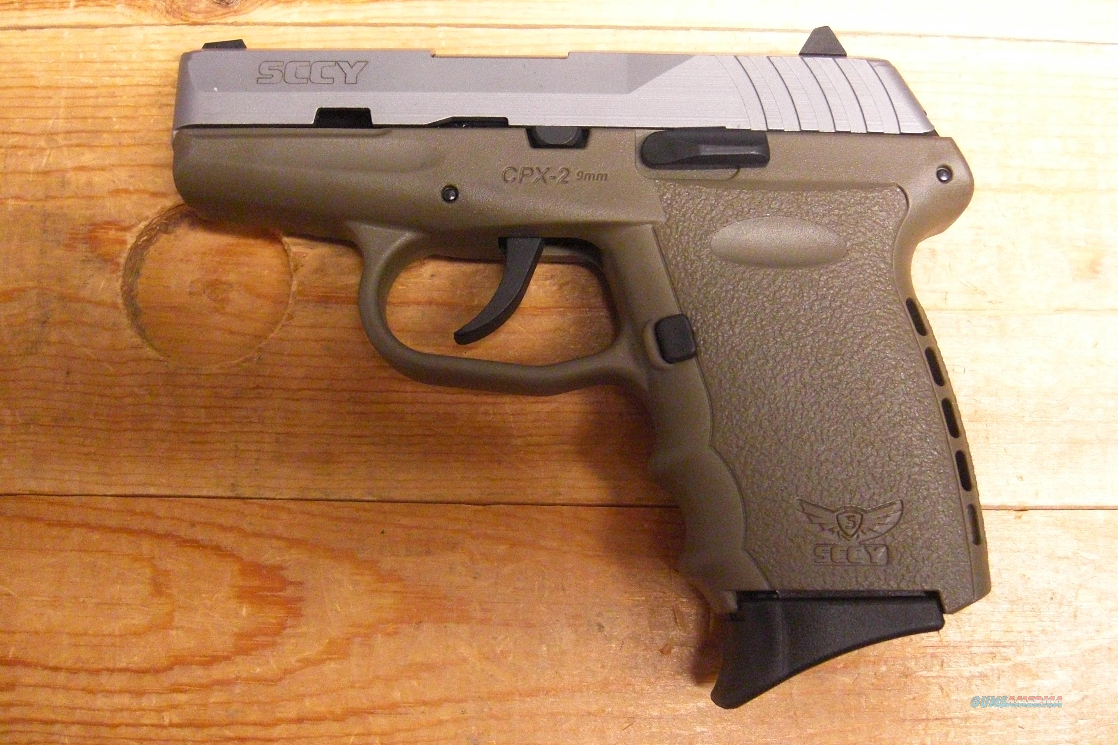 SCCY CPX-2 w/2 tone FDE/stainless finish, no external safety  Guns > Pistols > S Misc Pistols