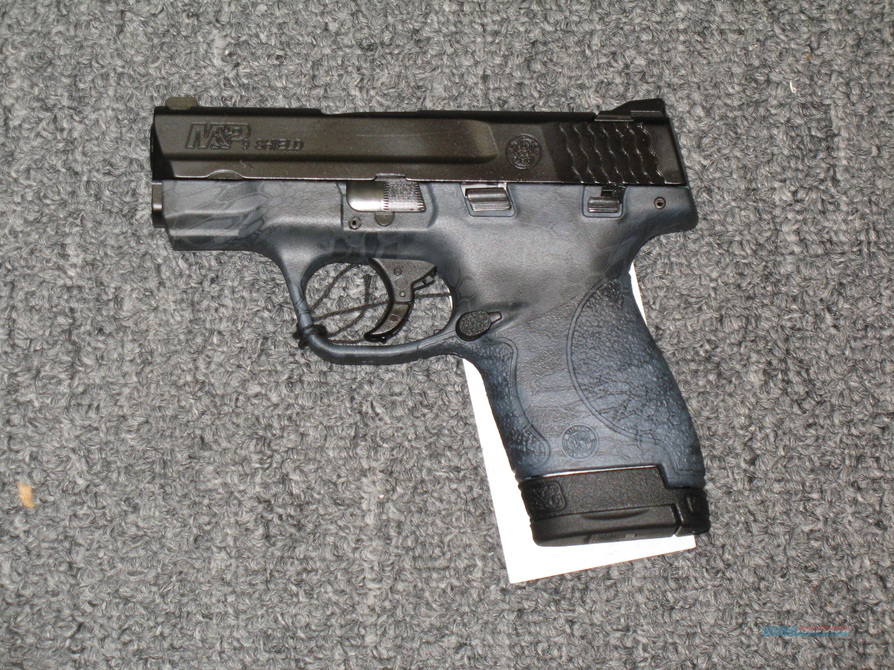 Smith & Wesson M&P 9 Shield with a Kryptek Typhon finish  Guns > Pistols > Smith & Wesson Pistols - Autos > Polymer Frame