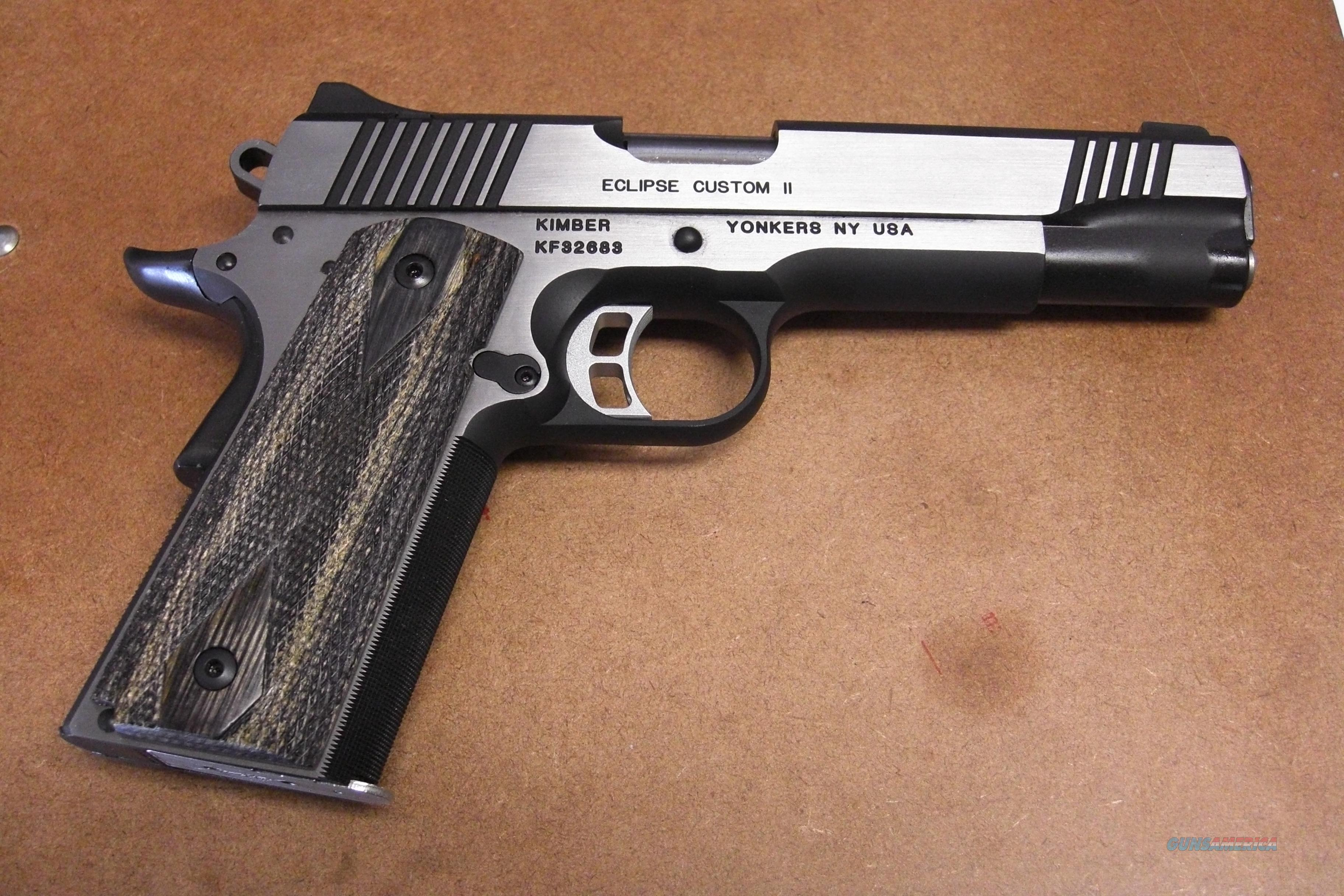 Eclipse Custom II  10 mm  w/stainless accents  Guns > Pistols > Kimber of America Pistols