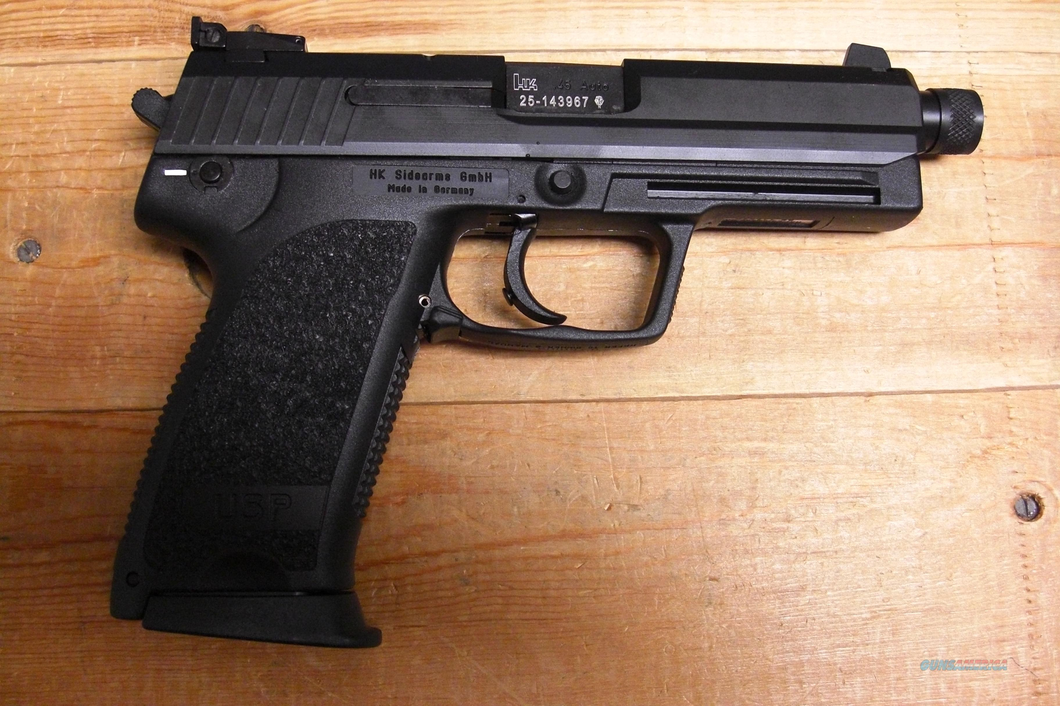 USP 45 Tactical V1 w/threaded bbl.  Guns > Pistols > Heckler & Koch Pistols > Polymer Frame