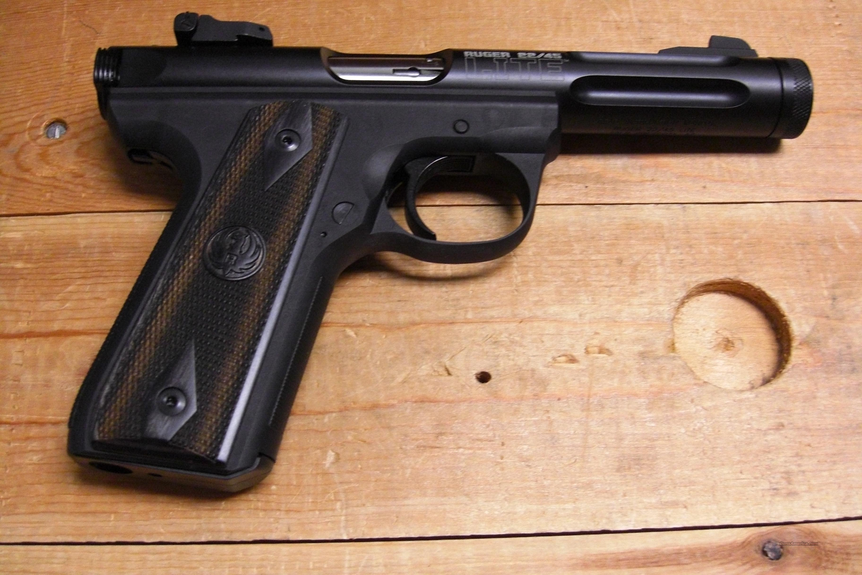 22/45 Lite w/fluted threaded bbl.  Guns > Pistols > Ruger Semi-Auto Pistols > Mark I & II Family