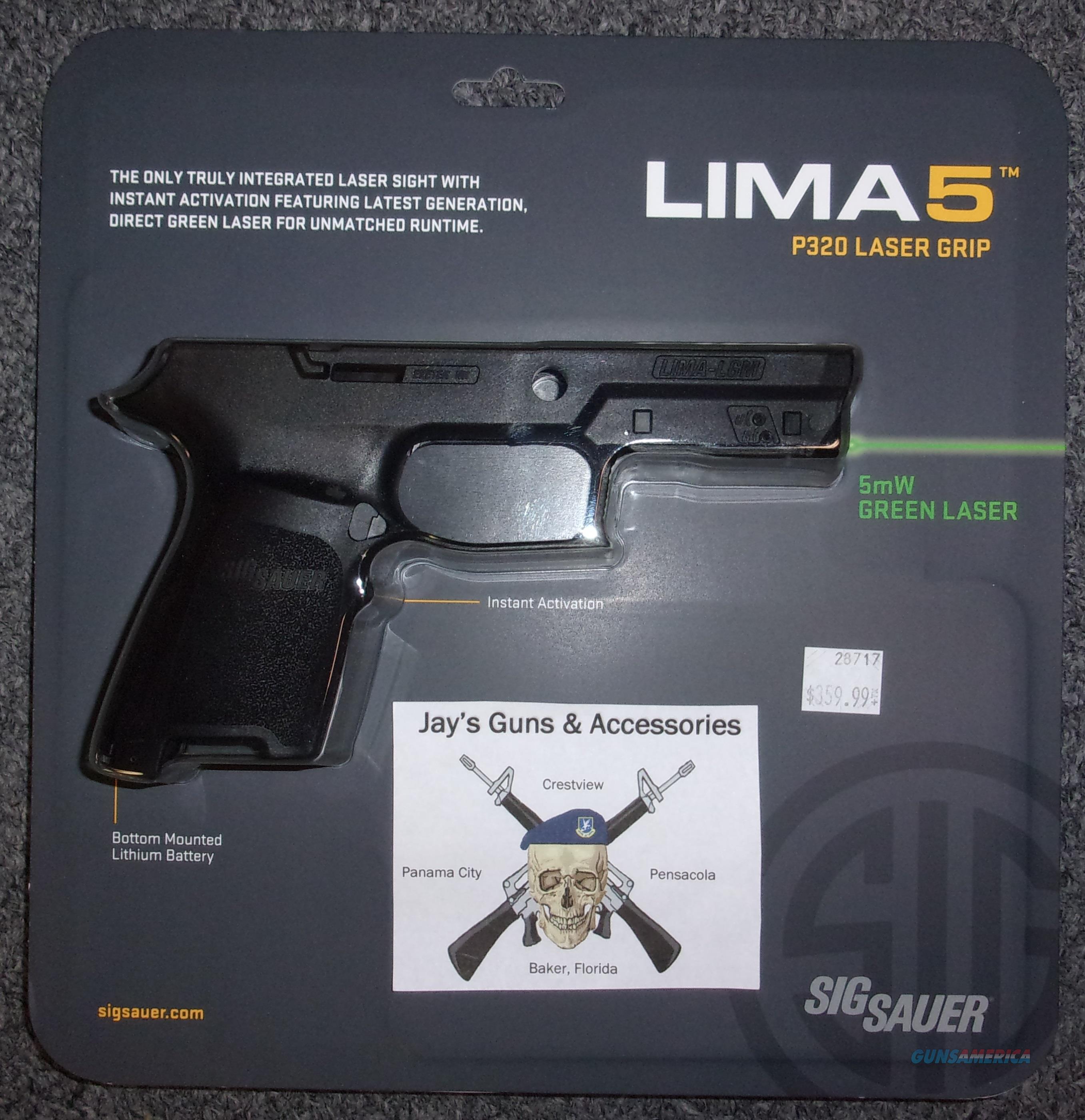 Sig Sauer LIMA5 P320 Laser Grip - Green Laser  Non-Guns > Gunstocks, Grips & Wood