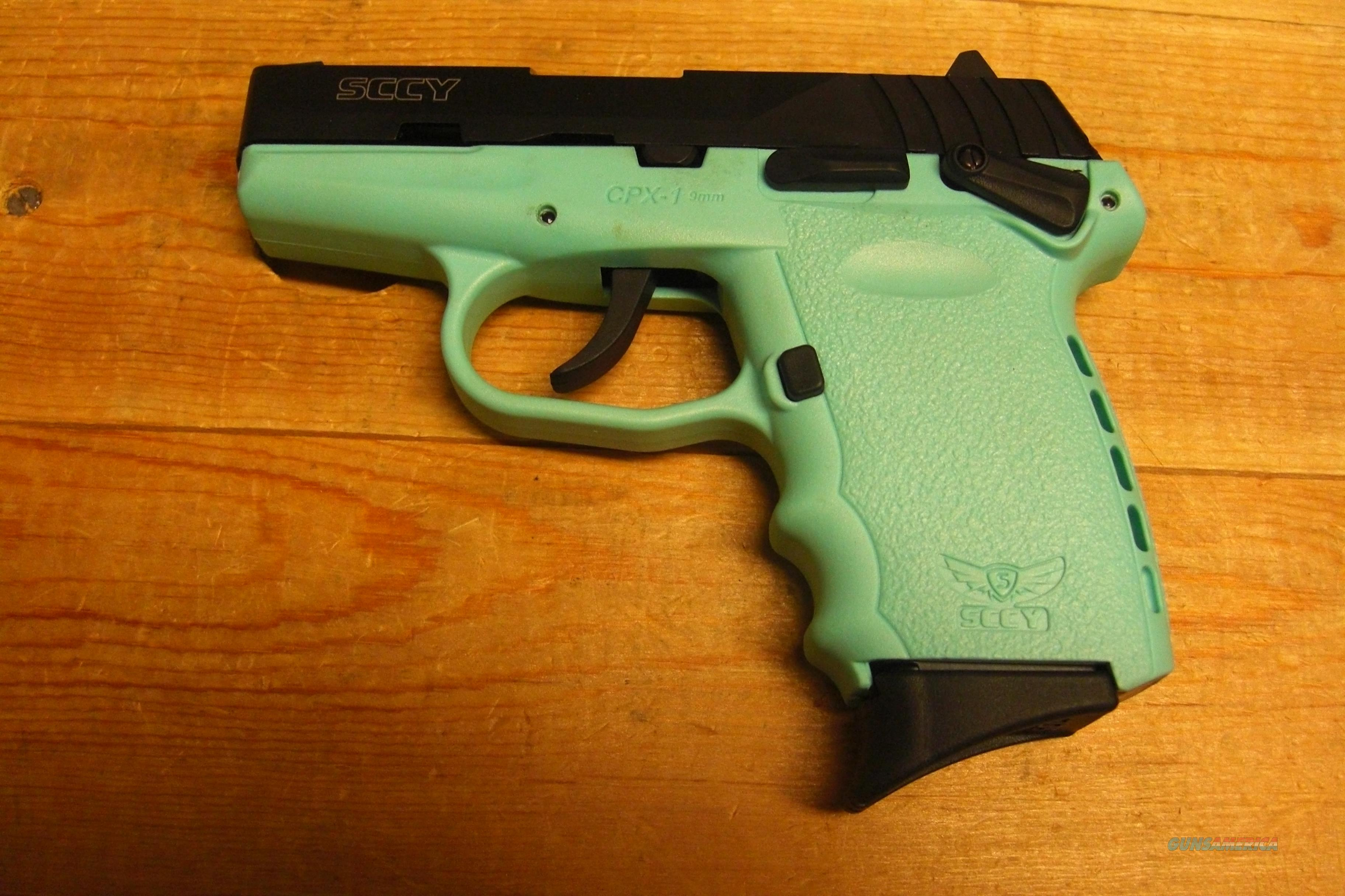 SCCY CPX-1  w/black slide and Turquoise frame  Guns > Pistols > SCCY Pistols > CPX1