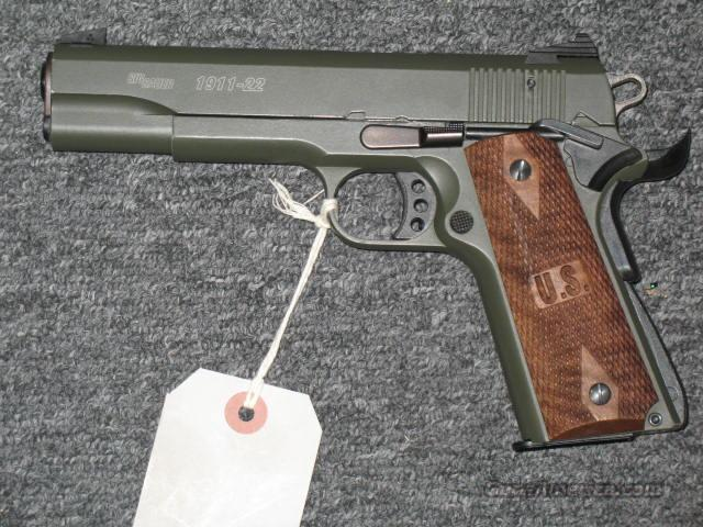 1911-22 w/threaded bbl., OD Green  Guns > Pistols > Sig - Sauer/Sigarms Pistols > 1911