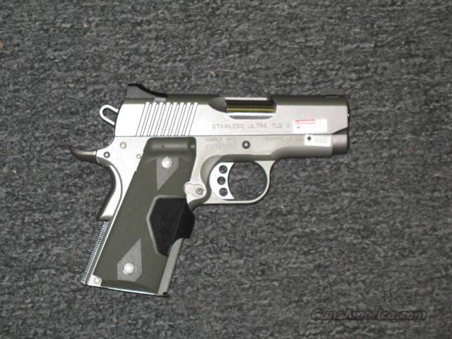 Stainless Ultra TLE II with Crimson Trace Laser Grips  Guns > Pistols > Kimber of America Pistols