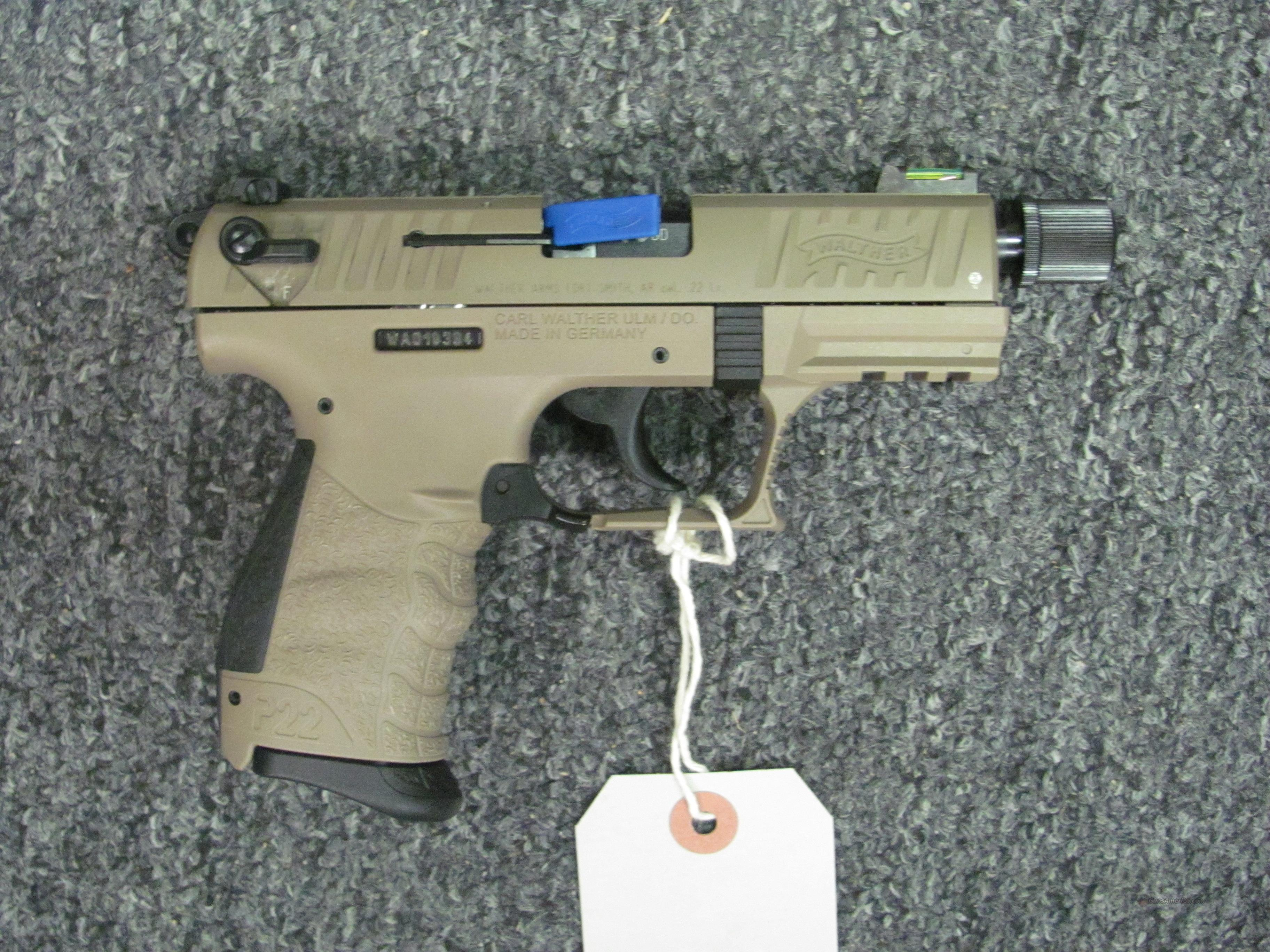 P22 Tactical (TALO) w/FDE Finish  Guns > Pistols > Walther Pistols > Post WWII > P22