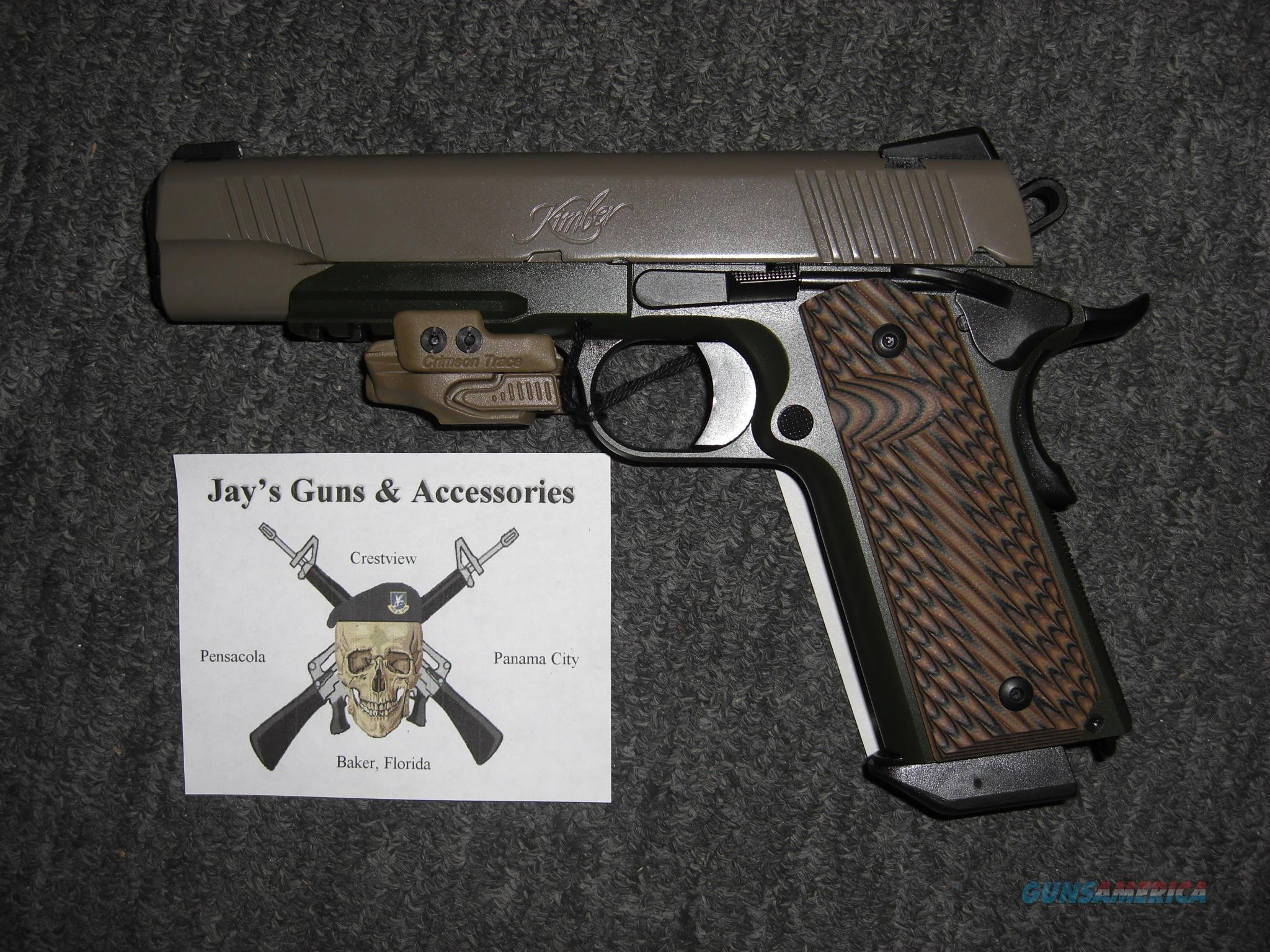 Kimber Warrior SOC w/Dark Green Finish & CTC Laser  Guns > Pistols > Kimber of America Pistols
