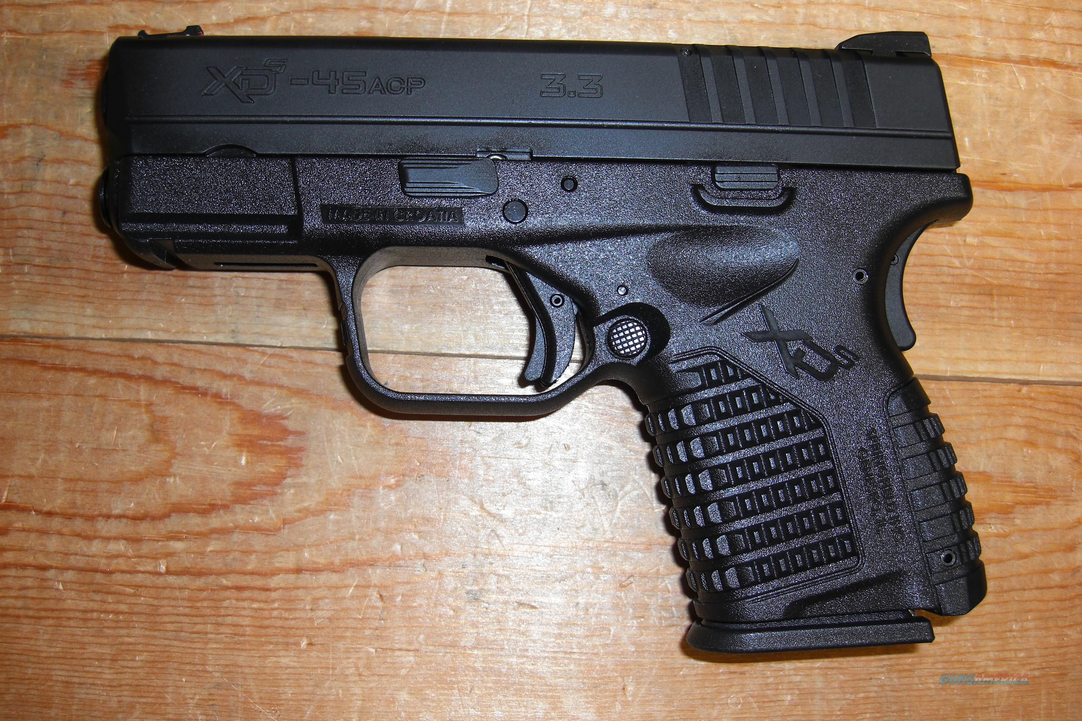 "XDS-45 w/3.3"" bbl., all black finish  Guns > Pistols > Springfield Armory Pistols > XD (eXtreme Duty)"