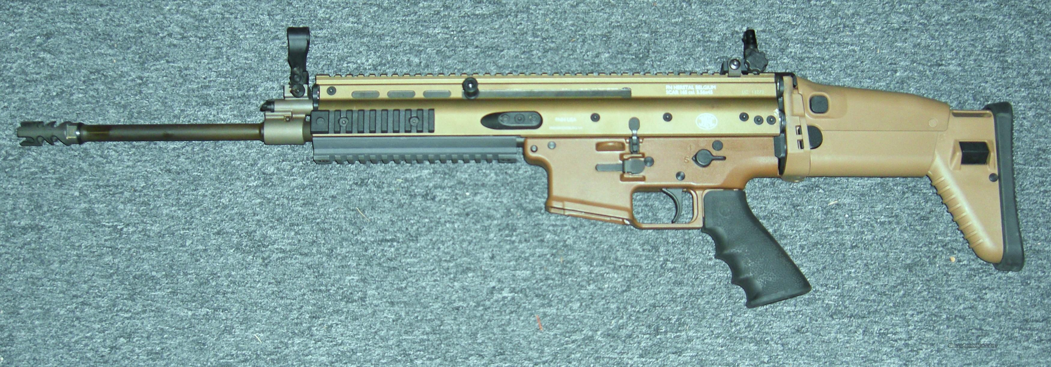 SCAR16S  dark earth  Guns > Rifles > FNH - Fabrique Nationale (FN) Rifles > Semi-auto > Other