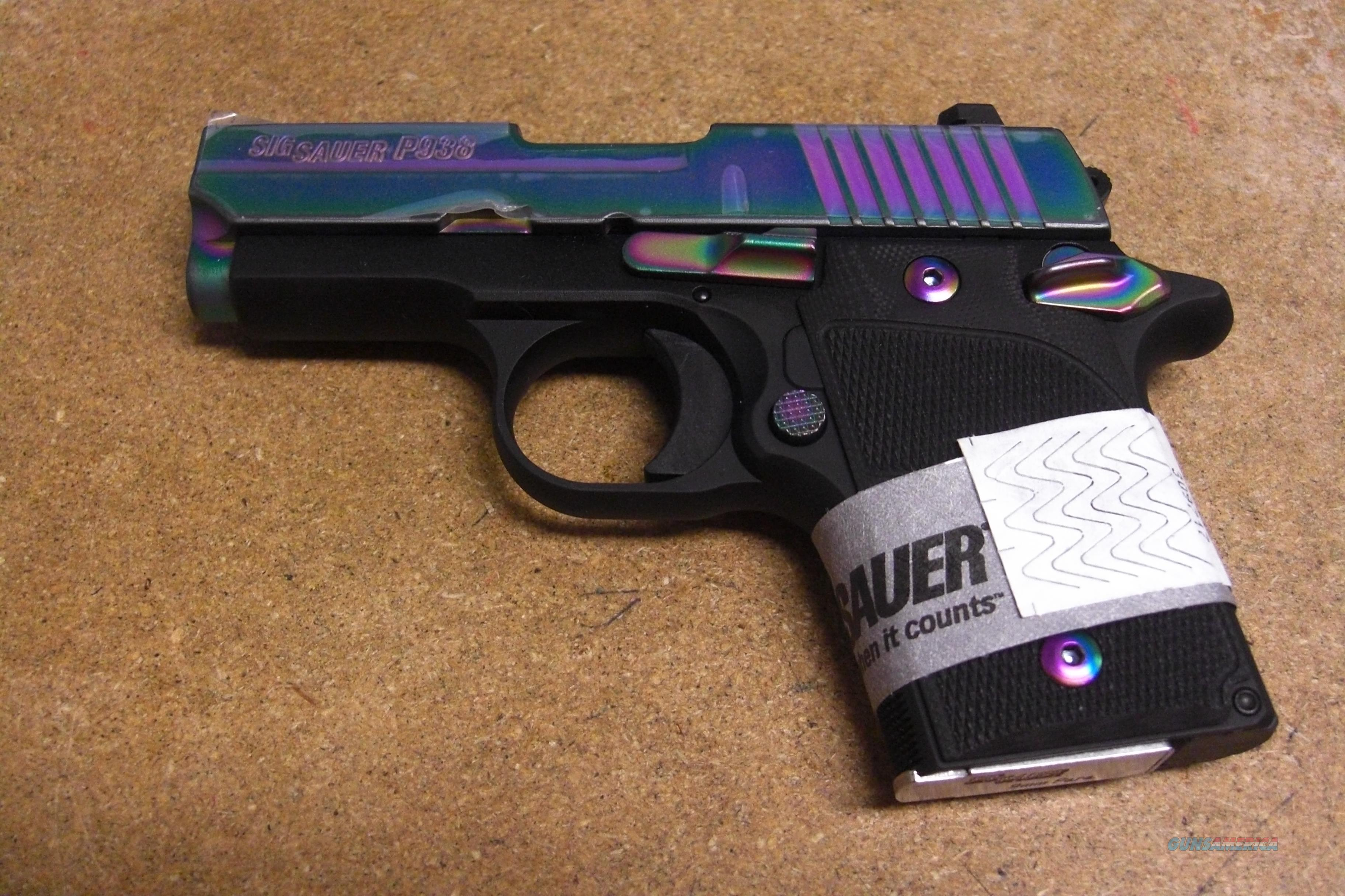 Sig Sauer P938 w/night sights, Rainbow slide   Guns > Pistols > Sig - Sauer/Sigarms Pistols > Other