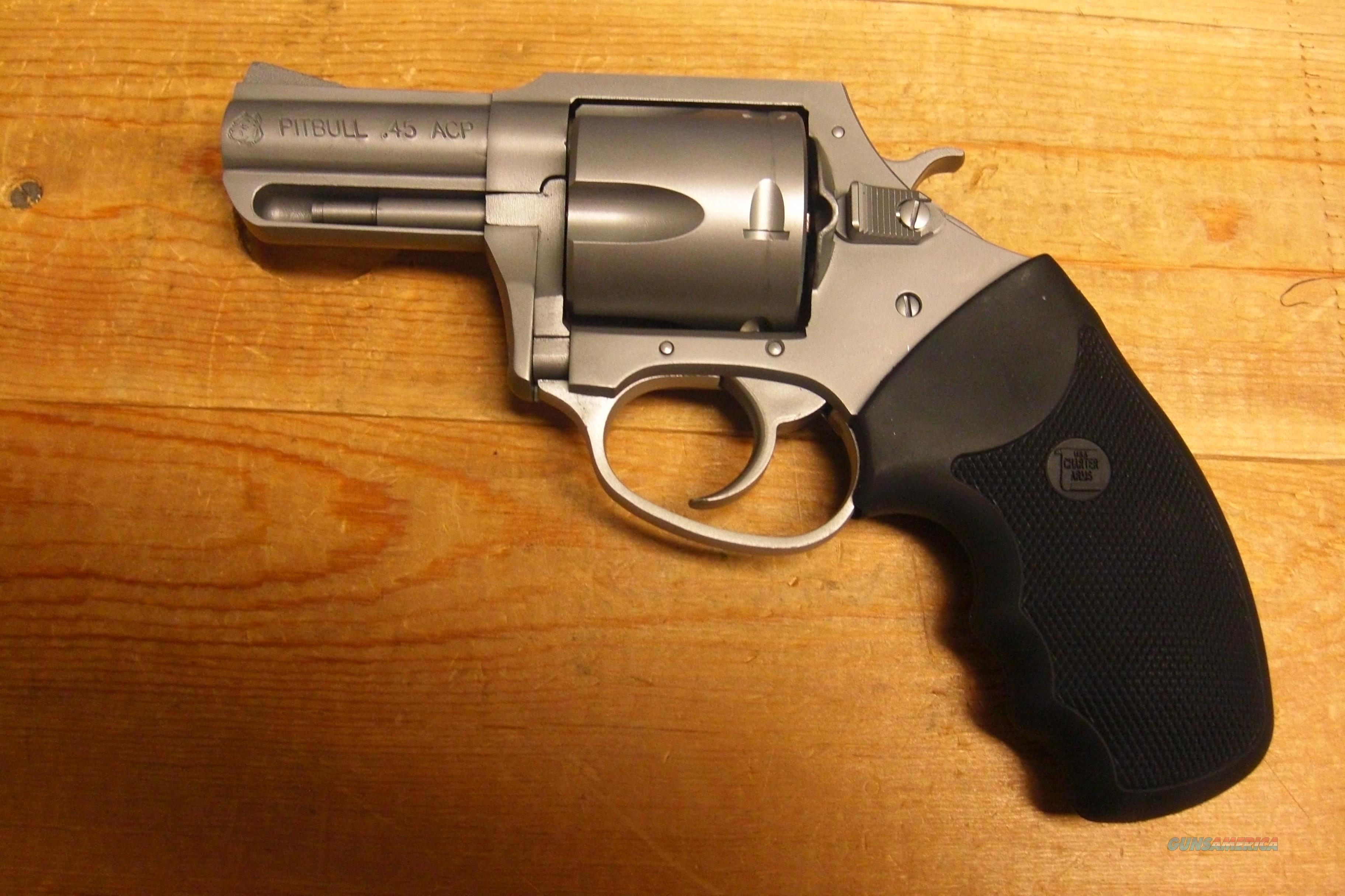 Pitbull w/matte stainless finish  Guns > Pistols > Charter Arms Revolvers