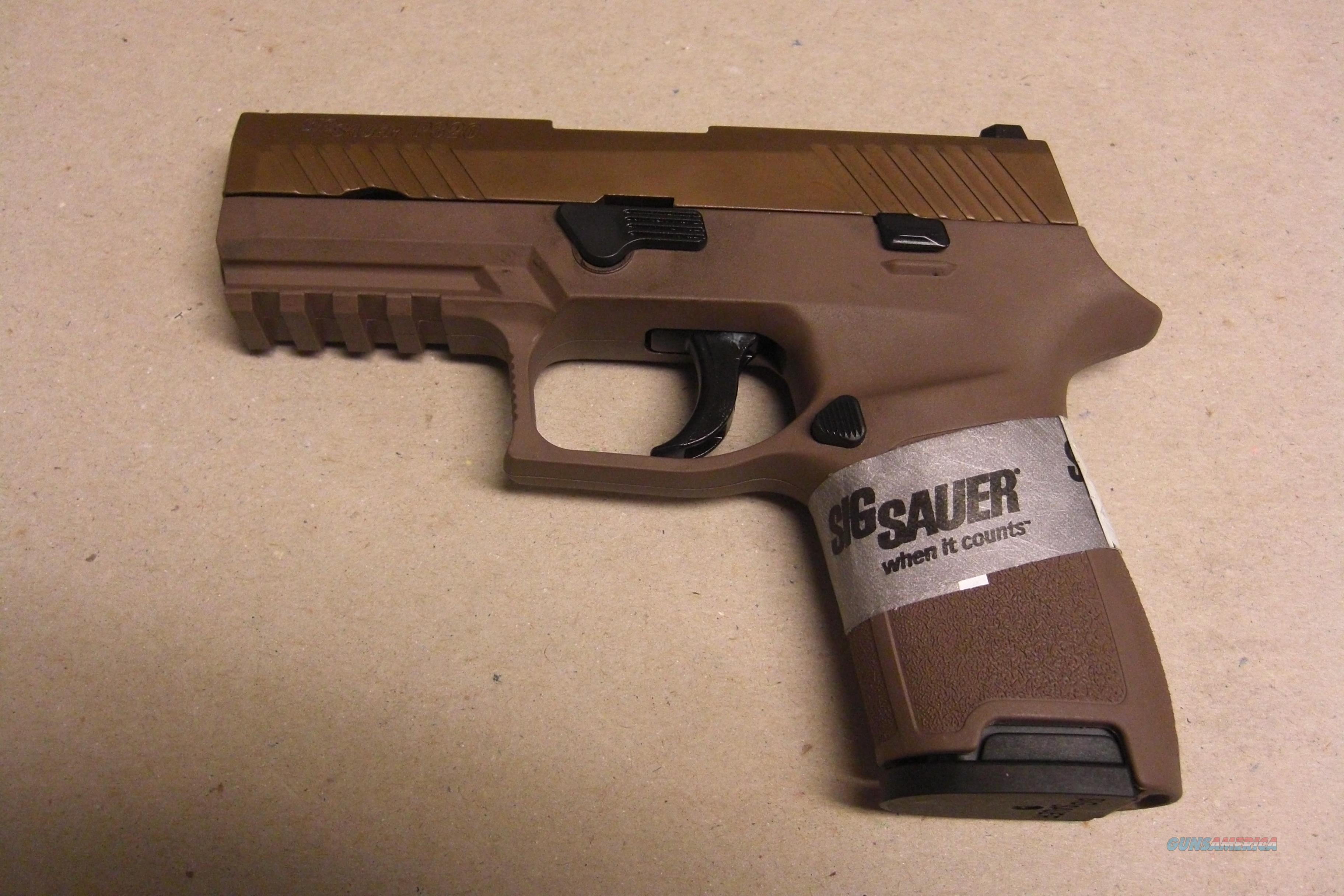 P320 Compact w/overall FDE finish w/night sights, 2 15 rd. mags., compact medium frame  Guns > Pistols > Sig - Sauer/Sigarms Pistols > P320