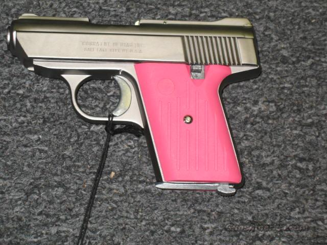 CA-380 satin with pink grips  Guns > Pistols > Cobra Derringers