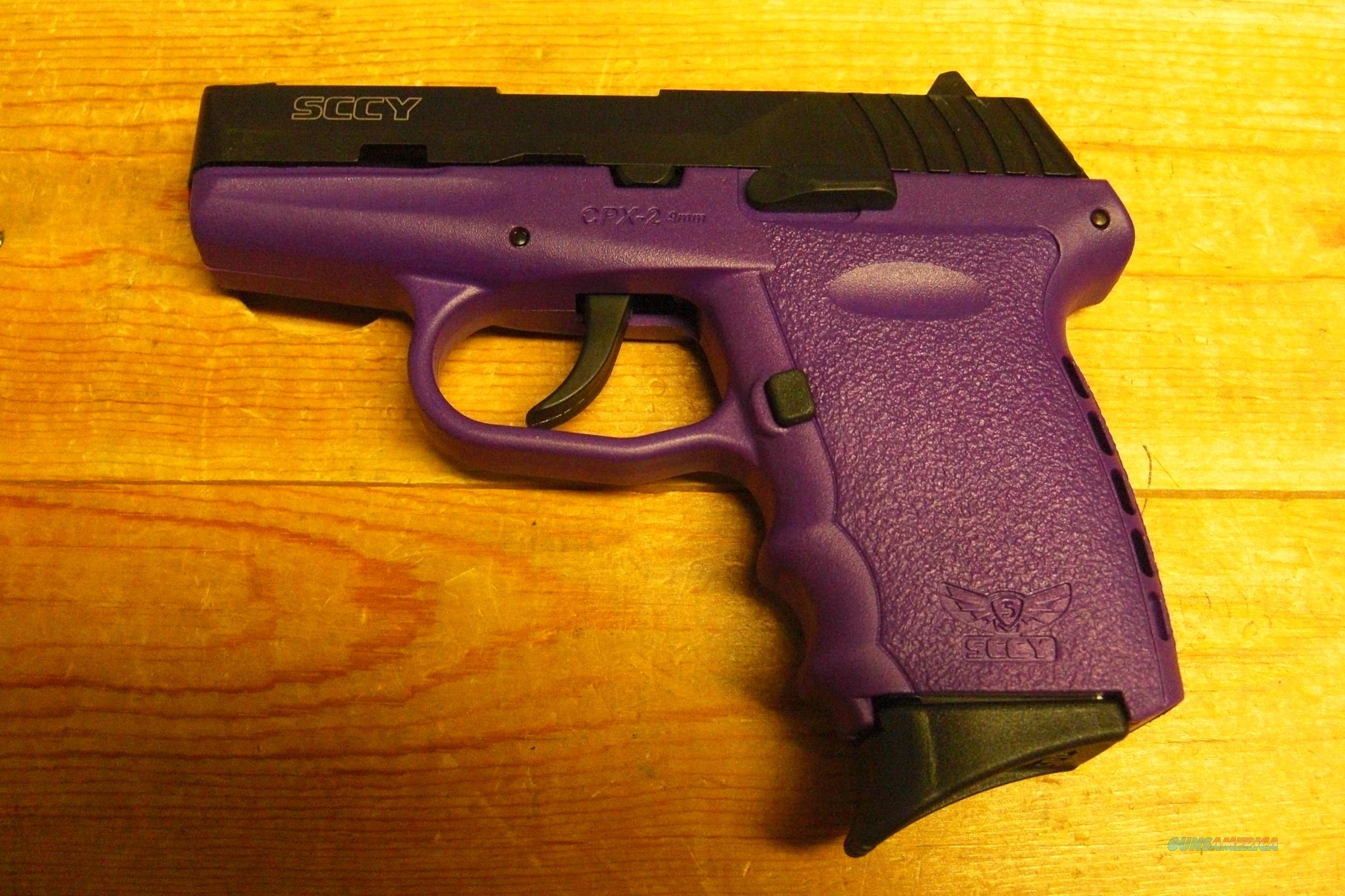 SCCY CPX-2 w/2 tone black and purple finish, no external safety  Guns > Pistols > SCCY Pistols > CPX2