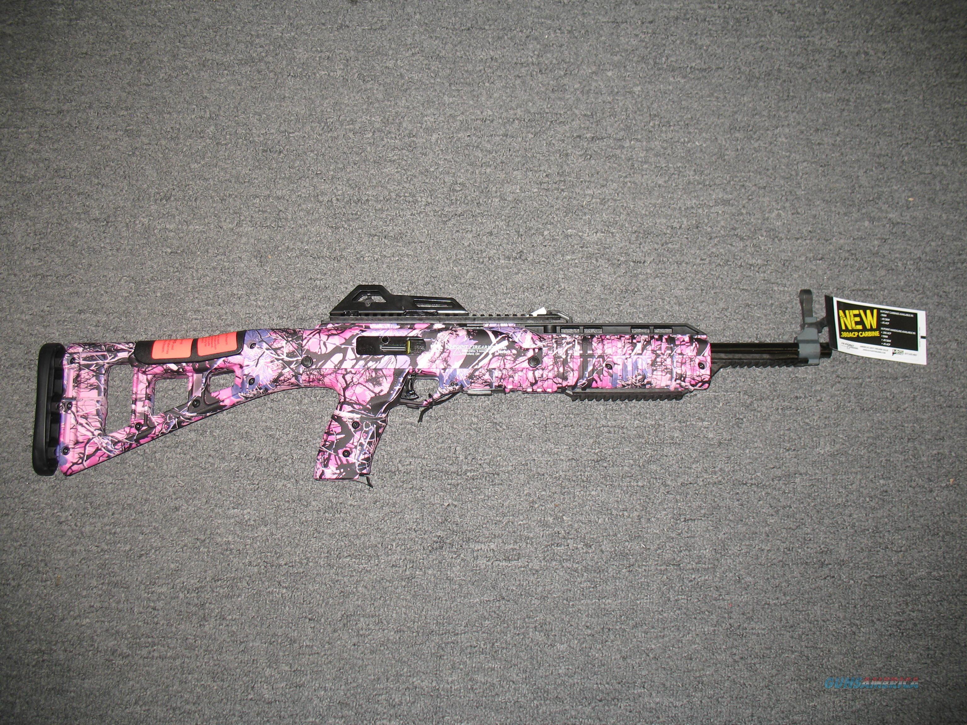 Hi-Point Firearms 3895 TS w/Pink Camo Finish  Guns > Rifles > Hi Point Rifles