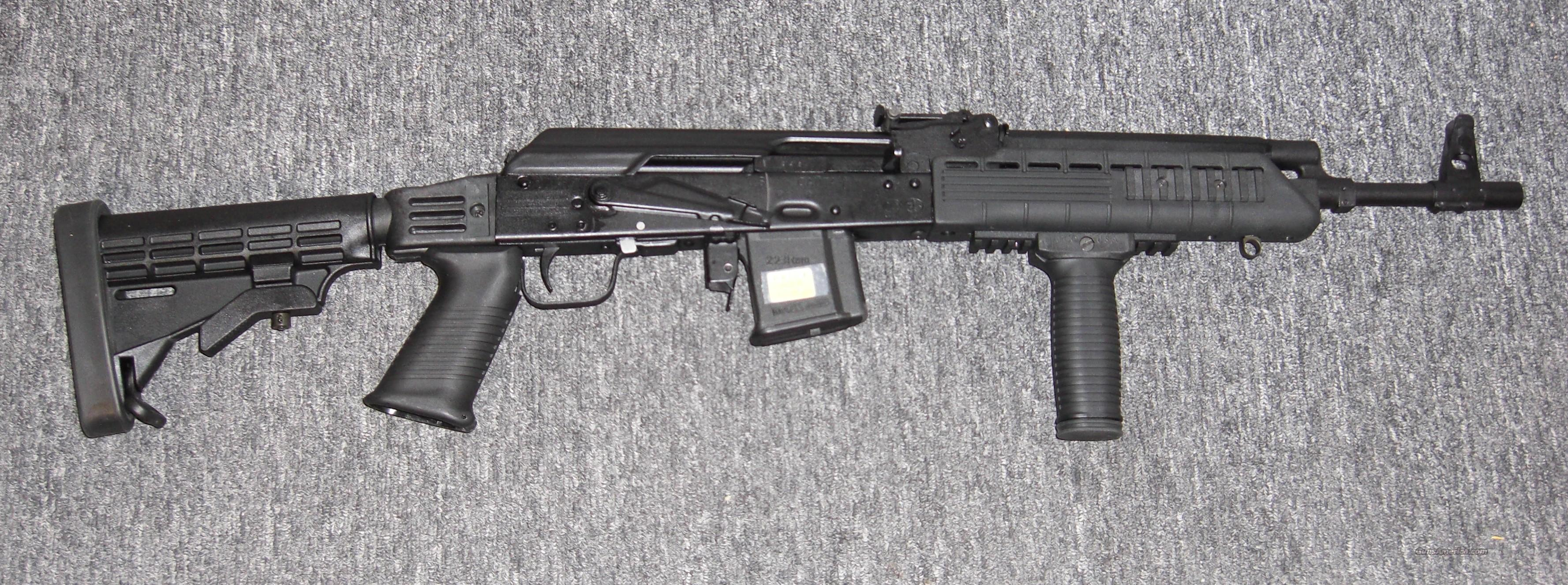 SAIGA 223  w/tri rail, coll. stock  Guns > Rifles > Saiga Rifles