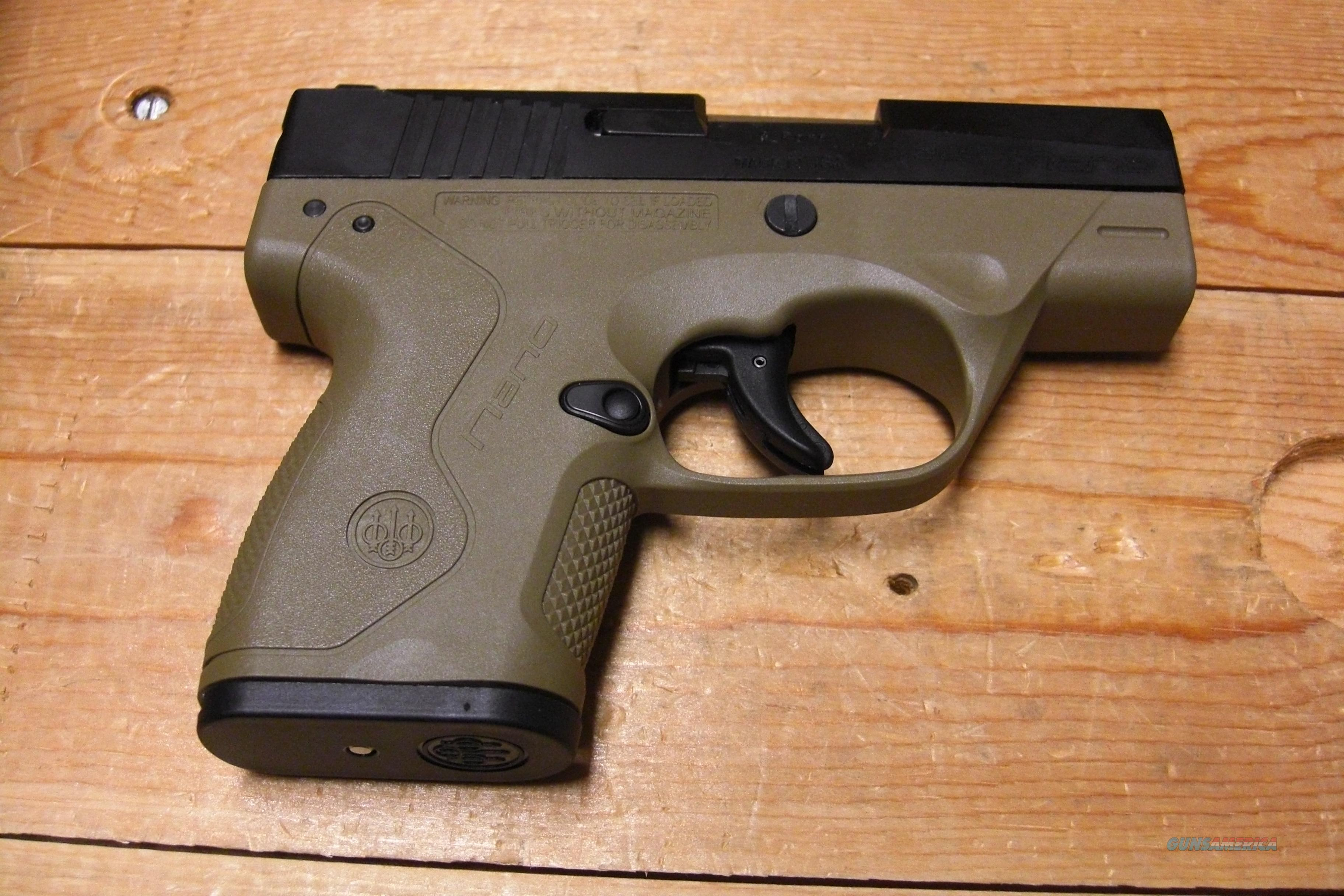 Nano w/FDE frame, comes with 3 mags.  Guns > Pistols > Beretta Pistols > Polymer Frame