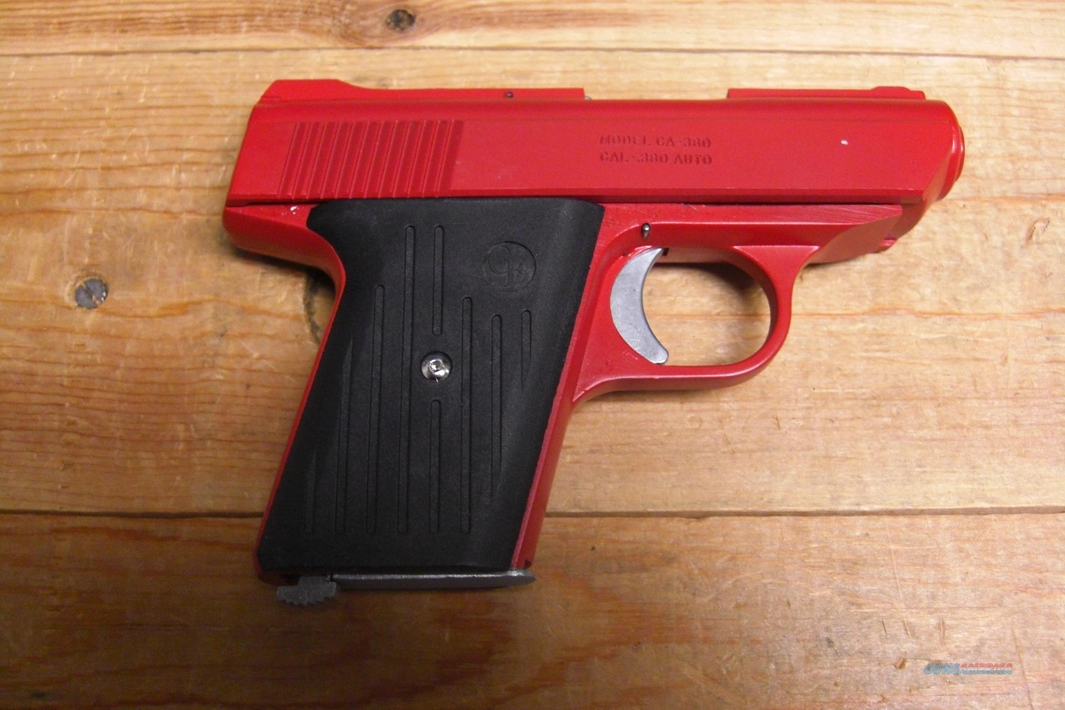 CA-380 w/all red finish  Guns > Pistols > Cobra Derringers