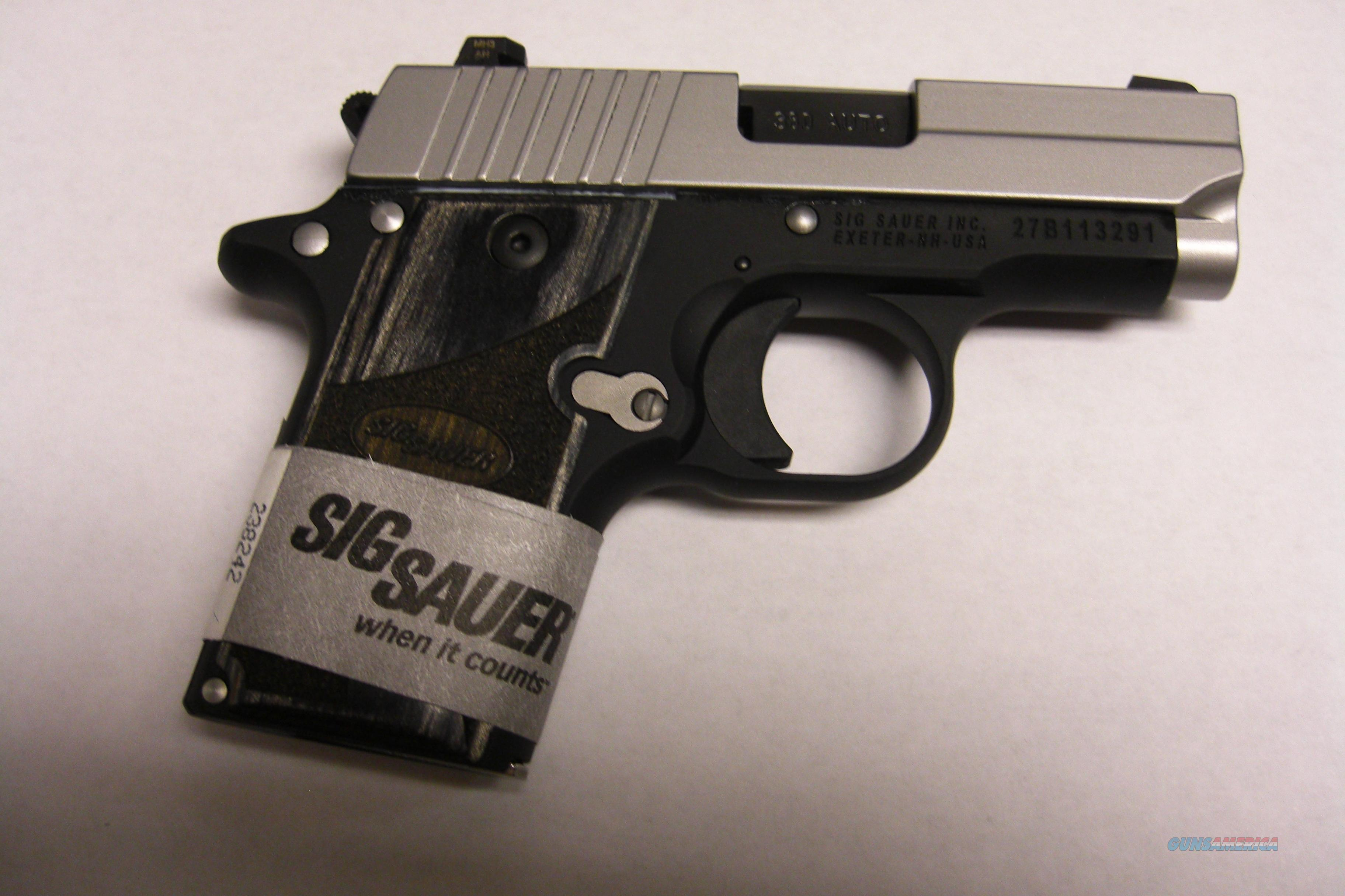 P938 w/night sights, stainless slide  Guns > Pistols > Sig - Sauer/Sigarms Pistols > Other