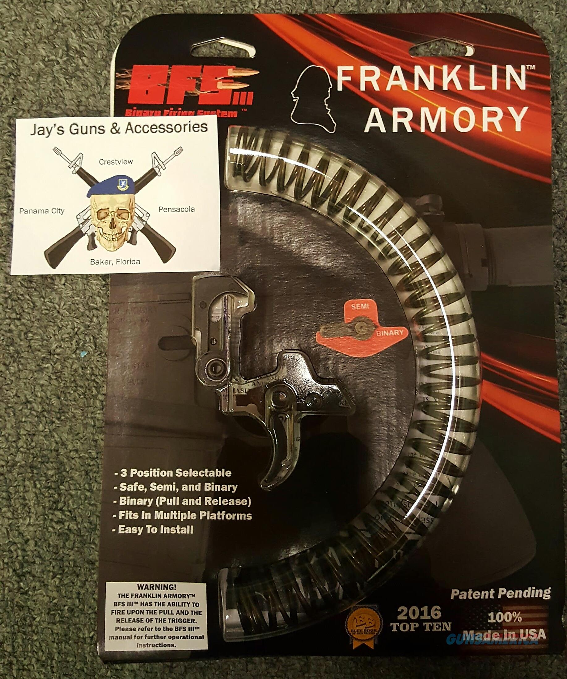 Franklin Armory Binary Firing System Gen 3 (5550)  Non-Guns > Gun Parts > Rifle/Accuracy/Sniper