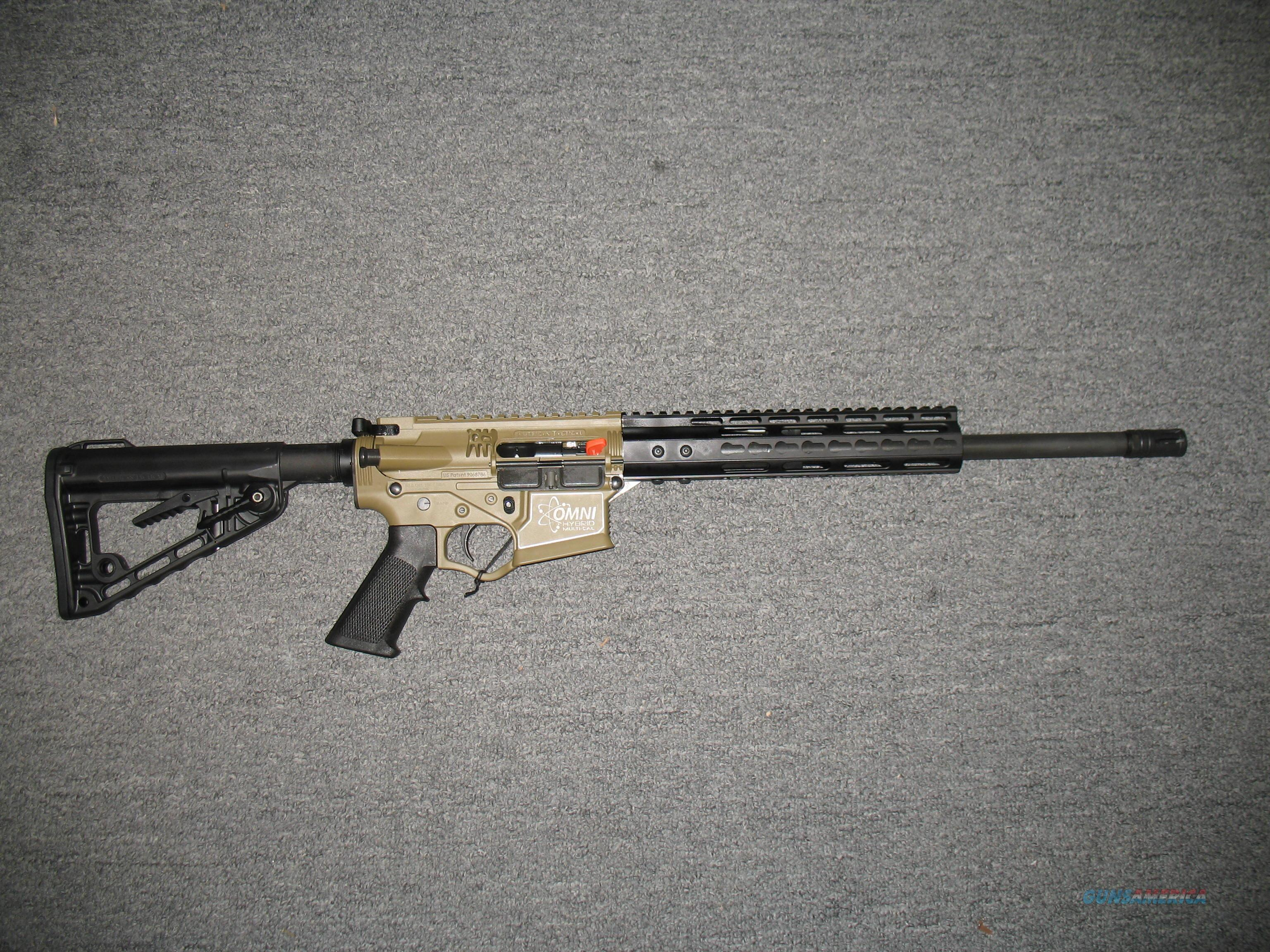 American Tactical Omni Hybrid w/adjustable stock keymod forearm FDE & Black  Guns > Rifles > AR-15 Rifles - Small Manufacturers > Complete Rifle