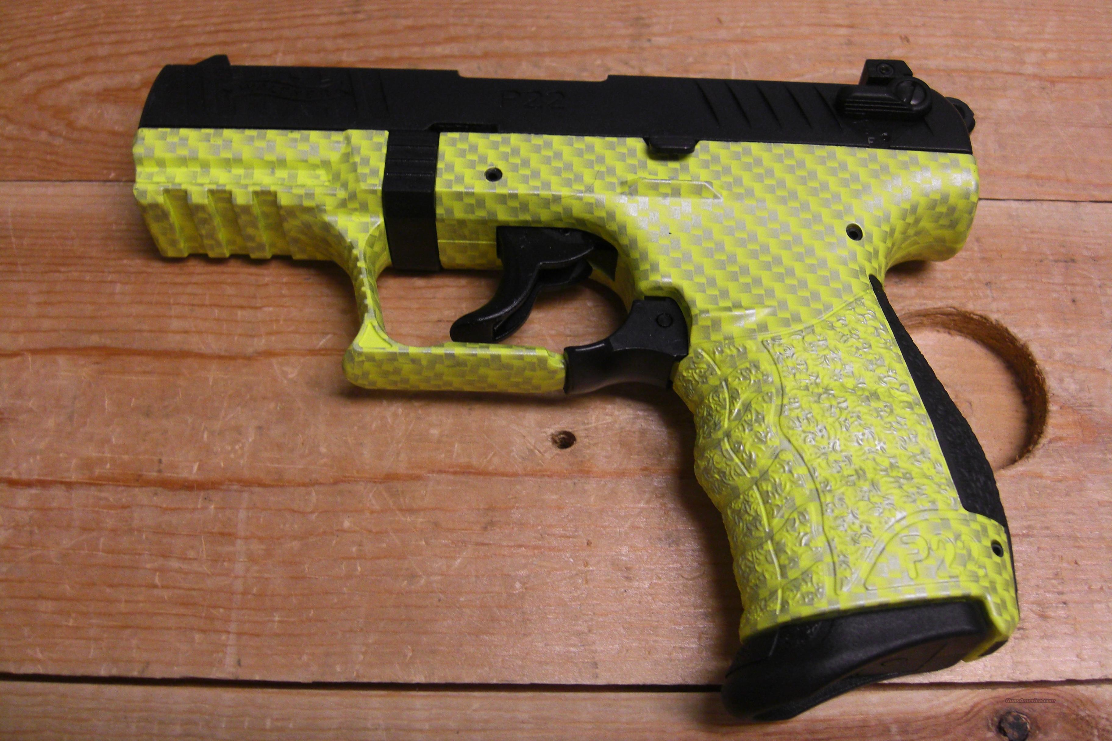 P22 w/yellow carbon fiber print frame  Guns > Pistols > Walther Pistols > Post WWII > Target Pistols