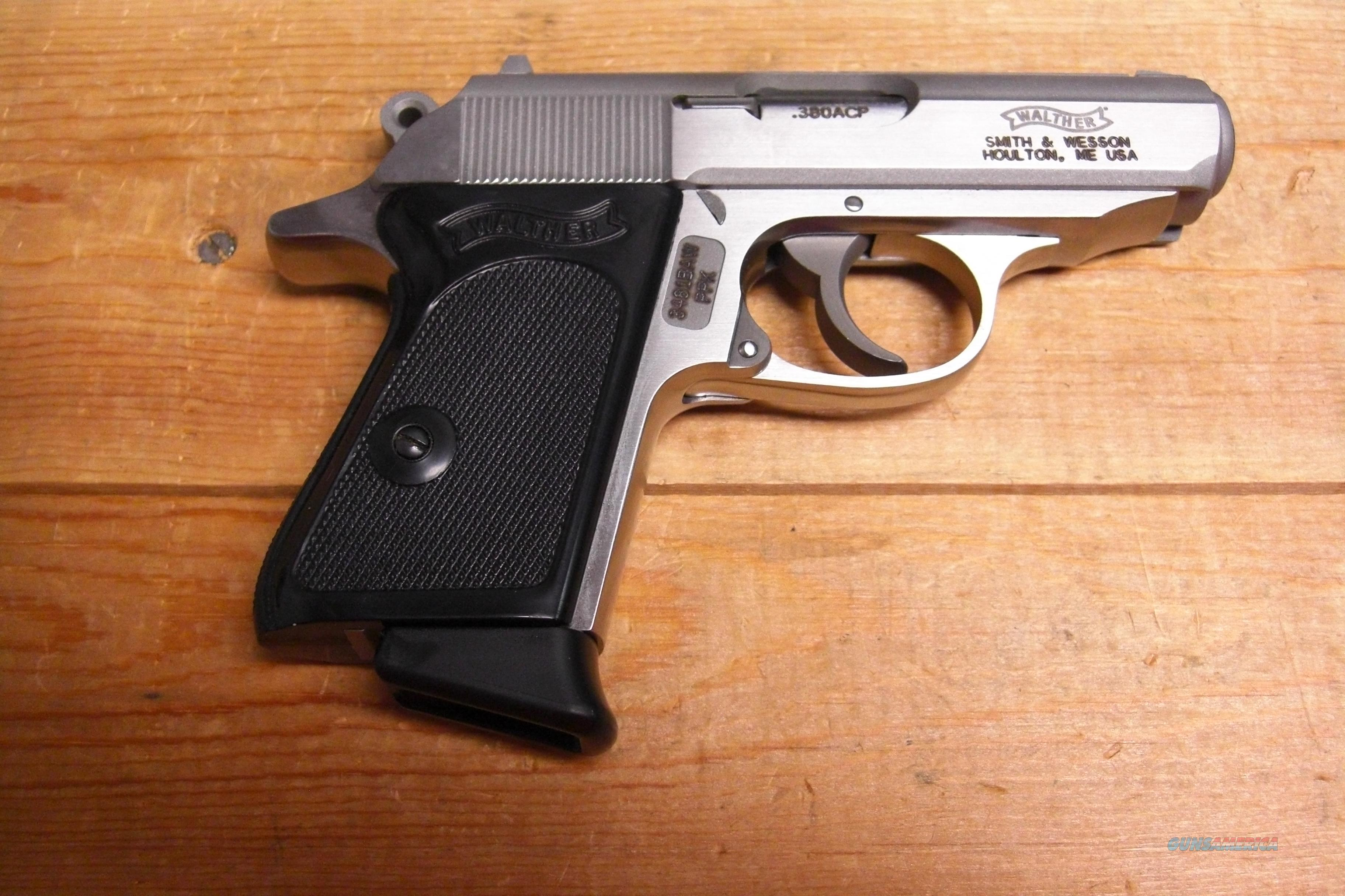 PPK w/2 6 rd mags, stainless finish  Guns > Pistols > Walther Pistols > Post WWII > PPK Series