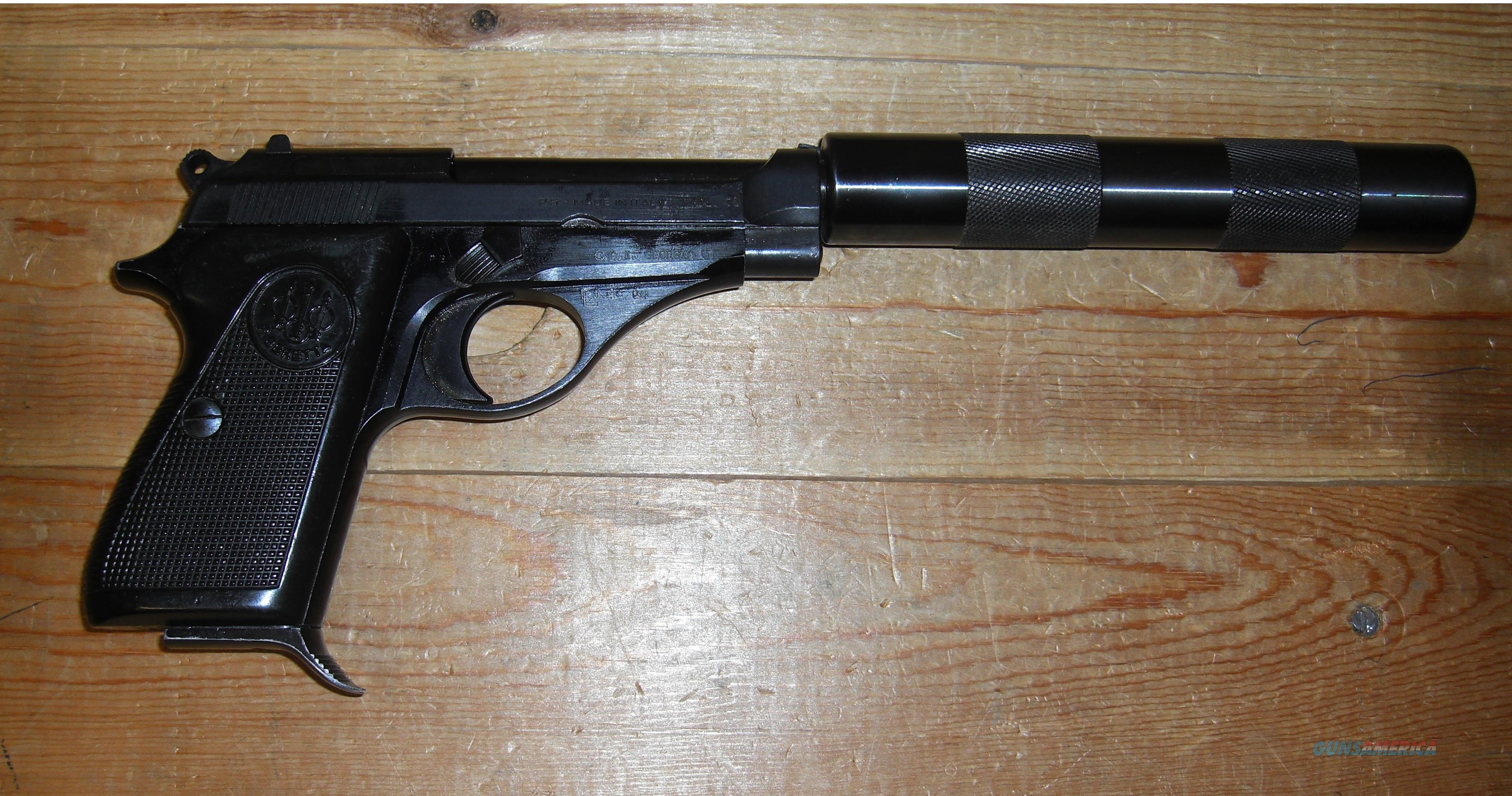 71 Jaguar  w/non-removable fake suppressor  Guns > Pistols > Beretta Pistols > Rare & Collectible
