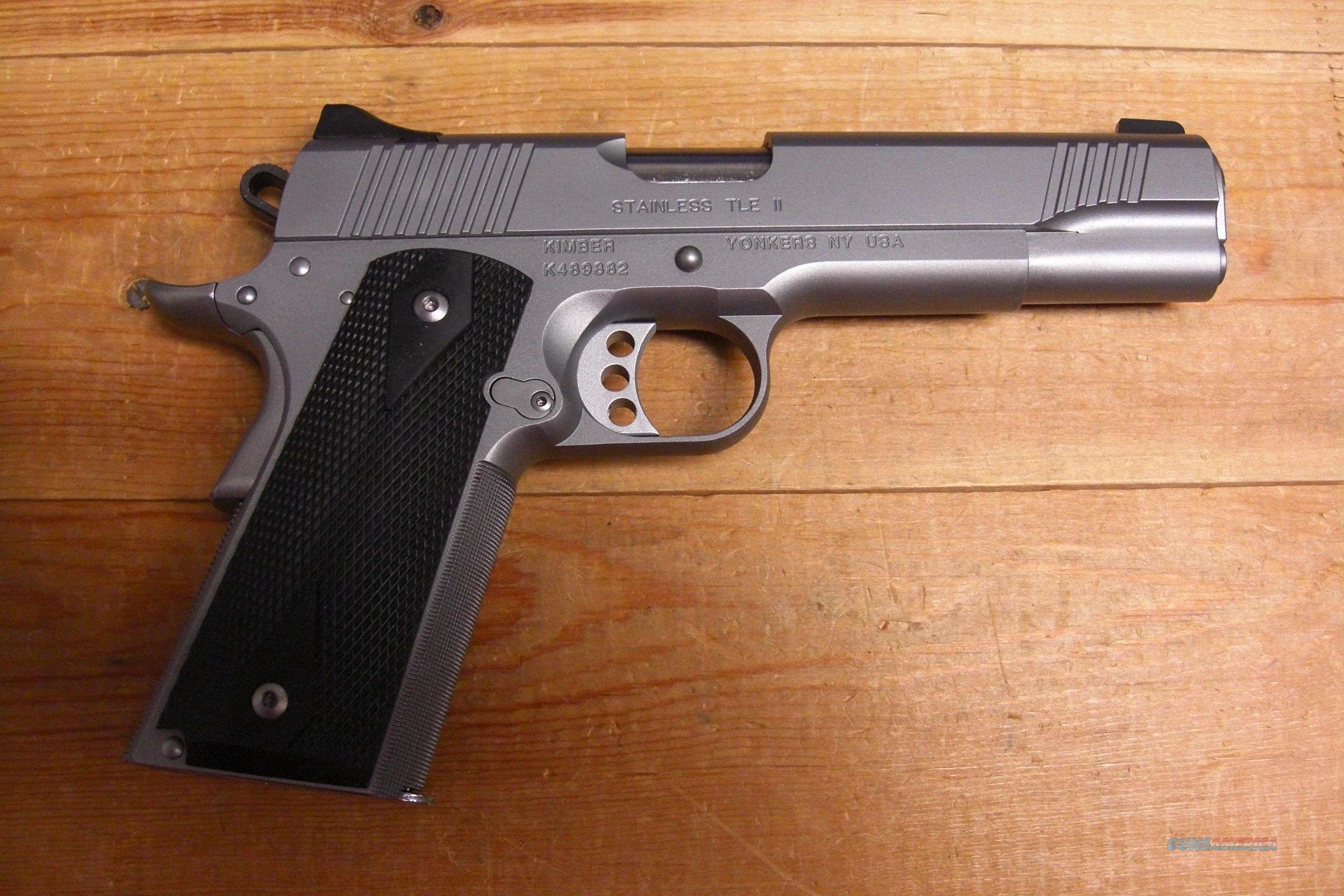 Stainless TLE II with night sights  Guns > Pistols > Kimber of America Pistols