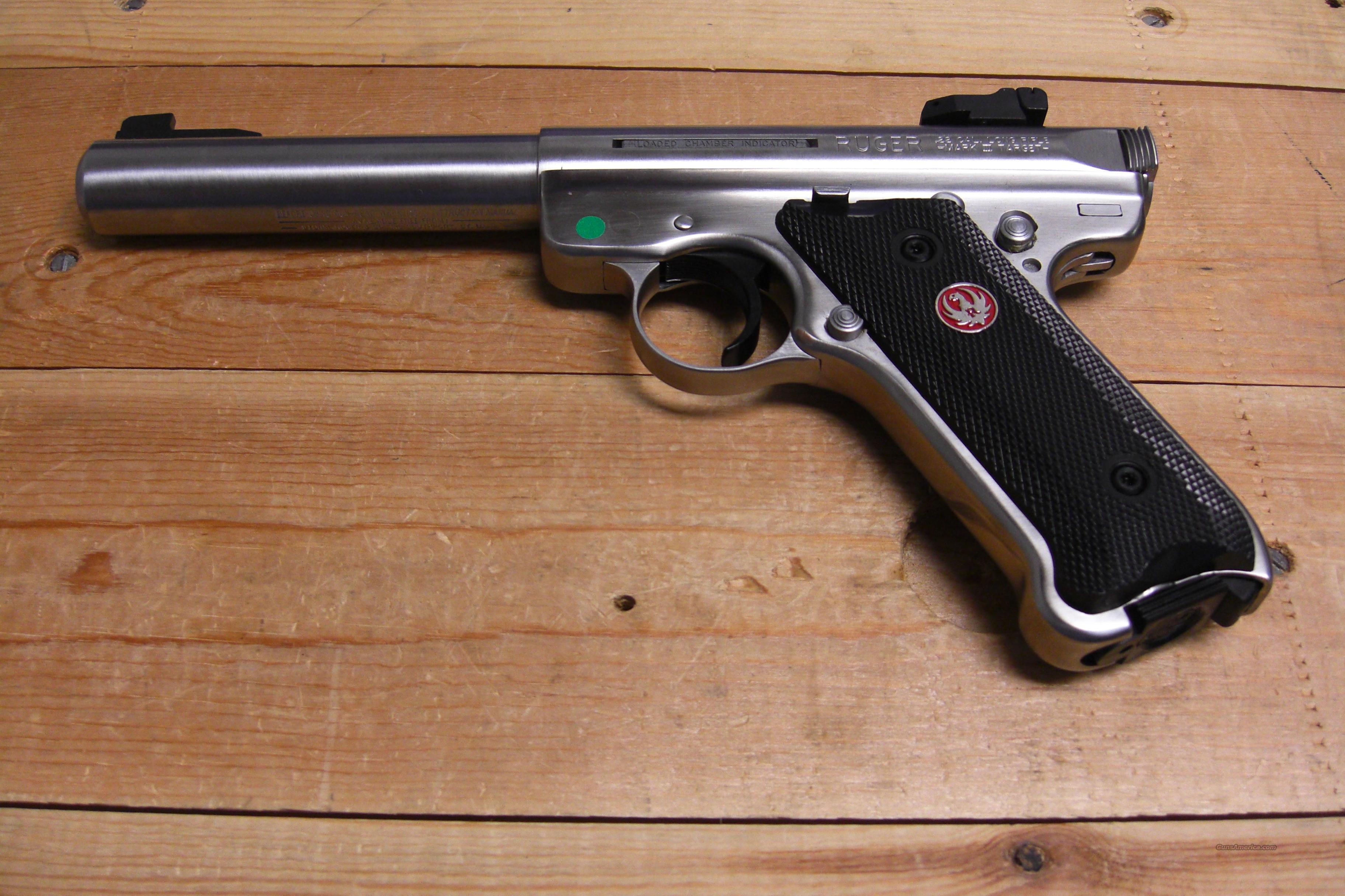 Mk III Target w/heavy bbl, adjustable rear sights  Guns > Pistols > Ruger Semi-Auto Pistols > Mark I & II Family