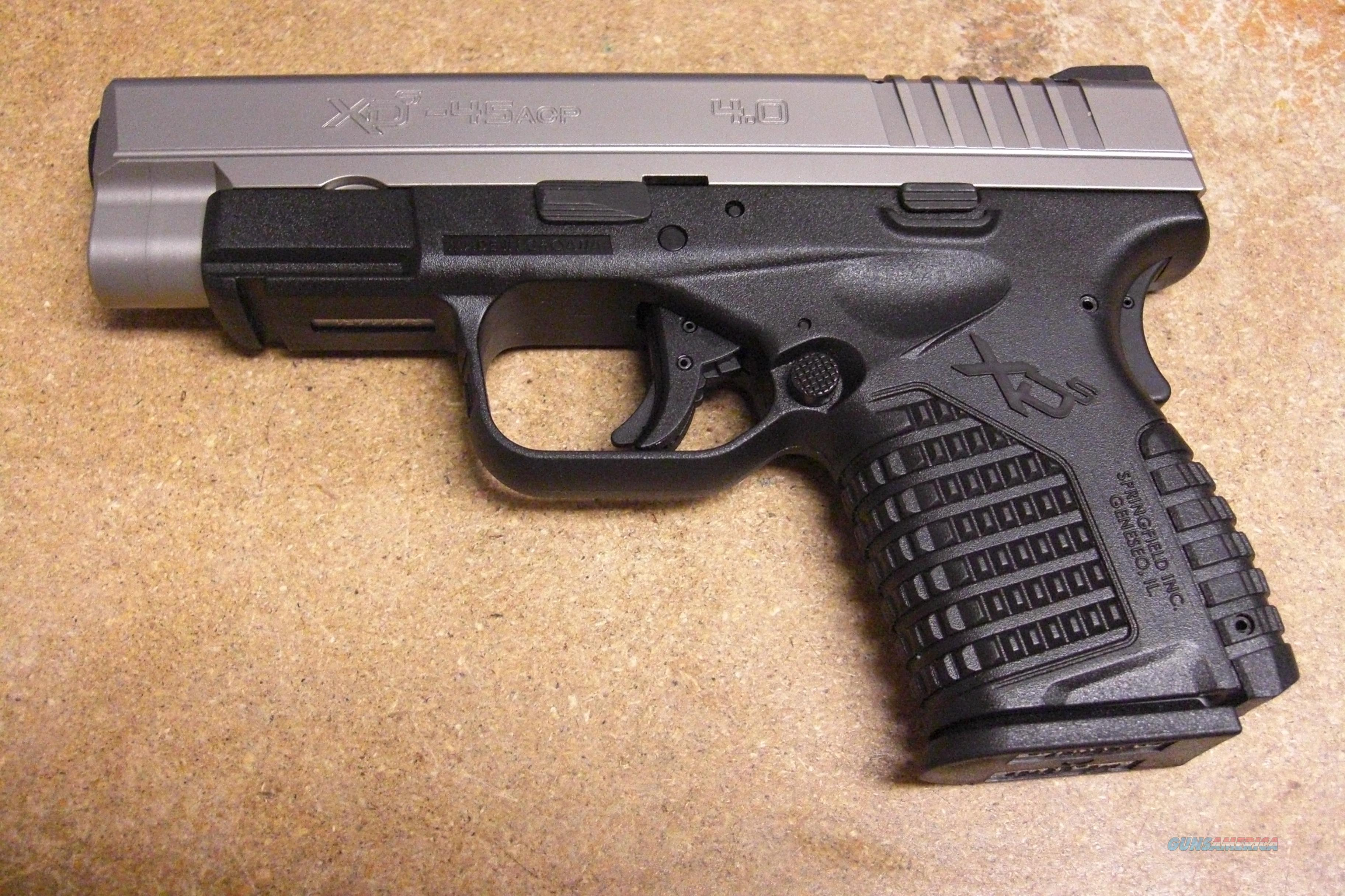 "XDS-45 w/4"" bbl., stainless slide  Guns > Pistols > Springfield Armory Pistols > XD (eXtreme Duty)"