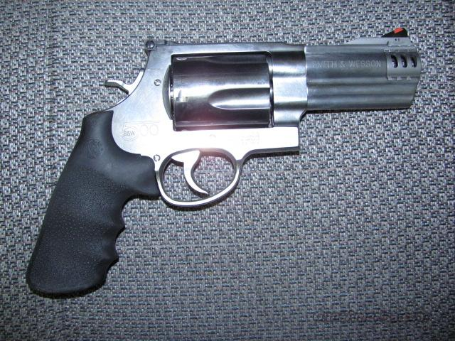 500 w/4 inch compensated, ported bbl  Guns > Pistols > Smith & Wesson Revolvers > Full Frame Revolver